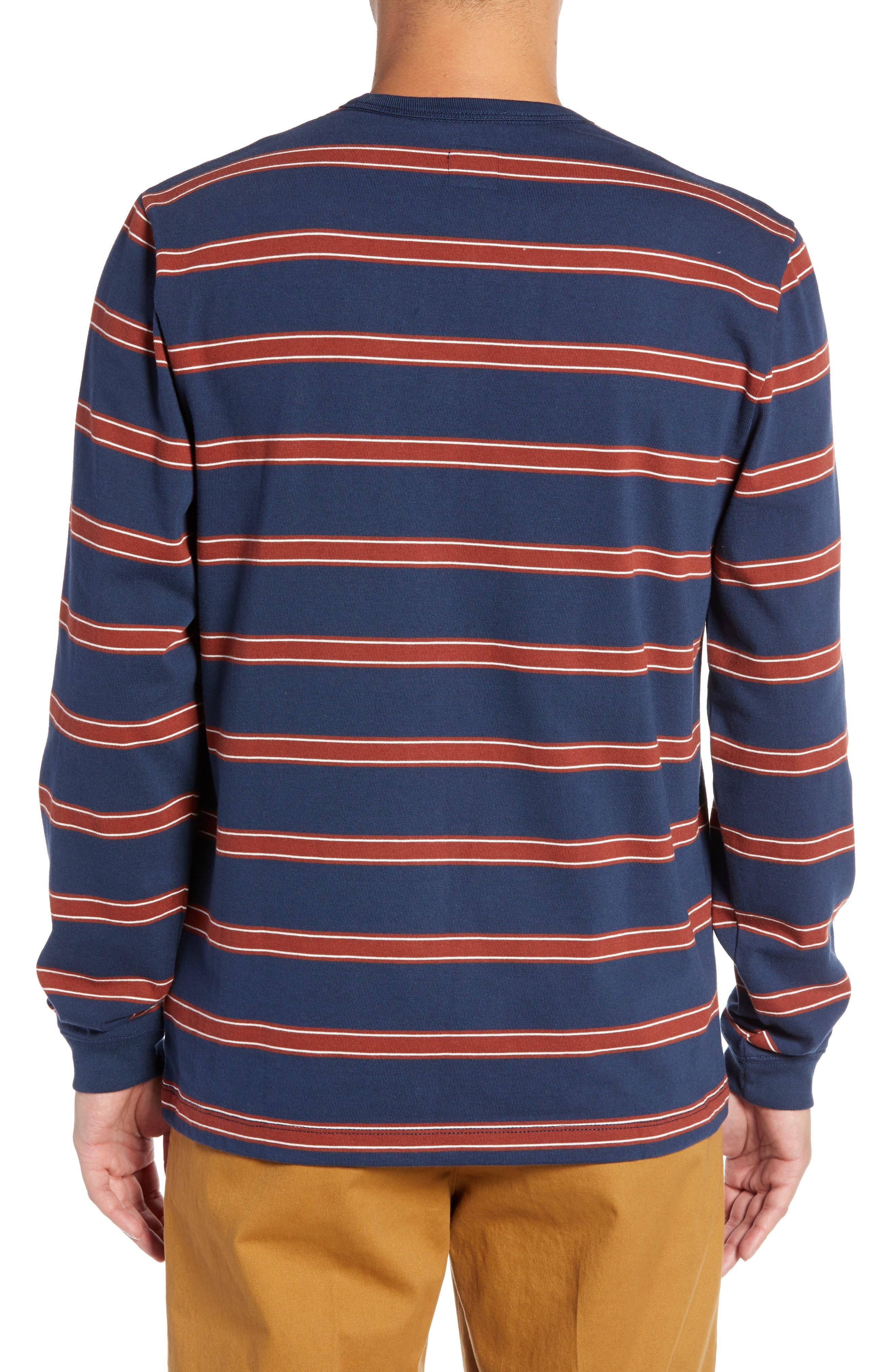 Watson Striped Long Sleeve T-Shirt,                             Alternate thumbnail 2, color,                             DRESS BLUES