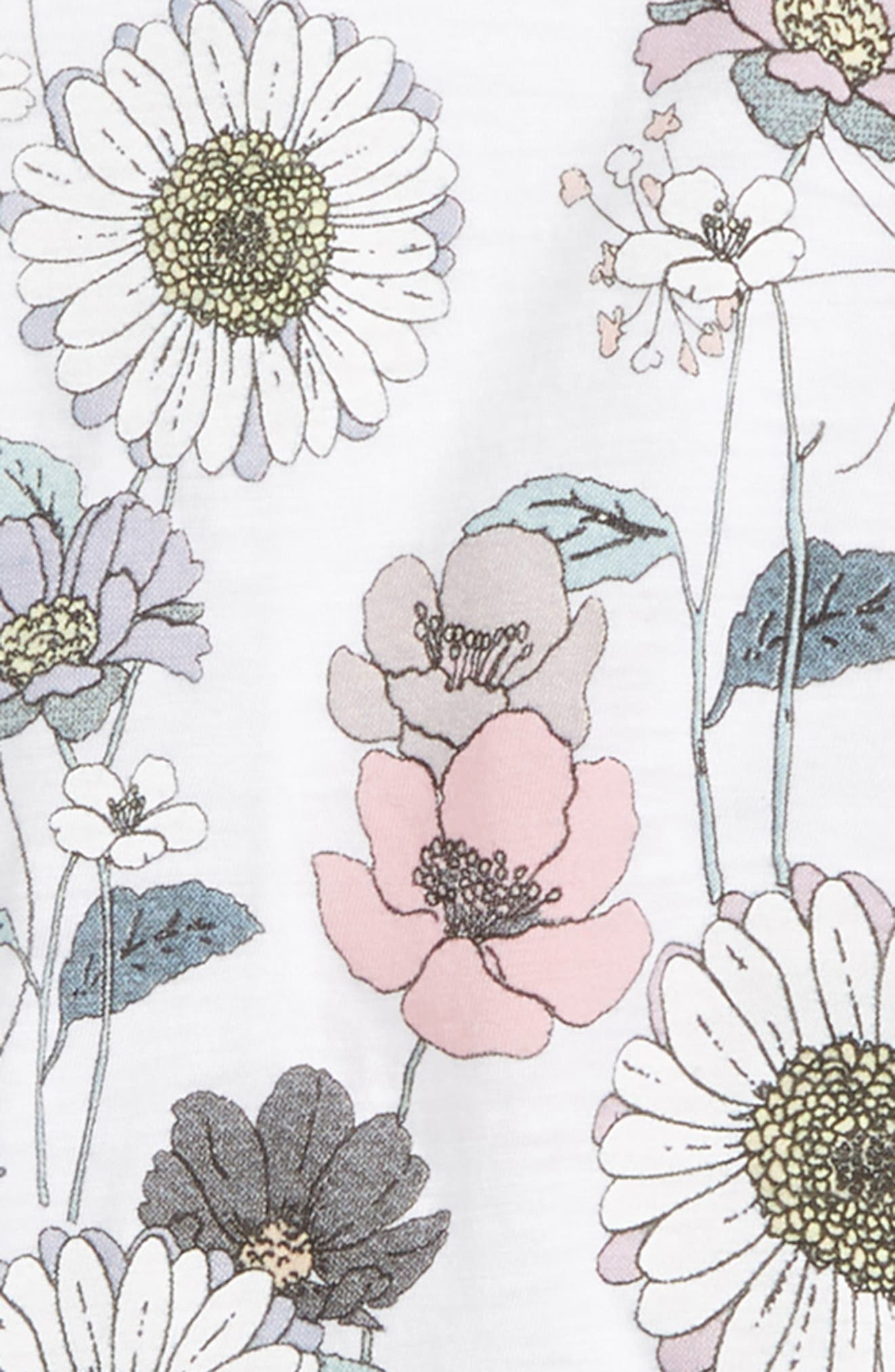 Floral High/Low Tank,                             Alternate thumbnail 2, color,                             100