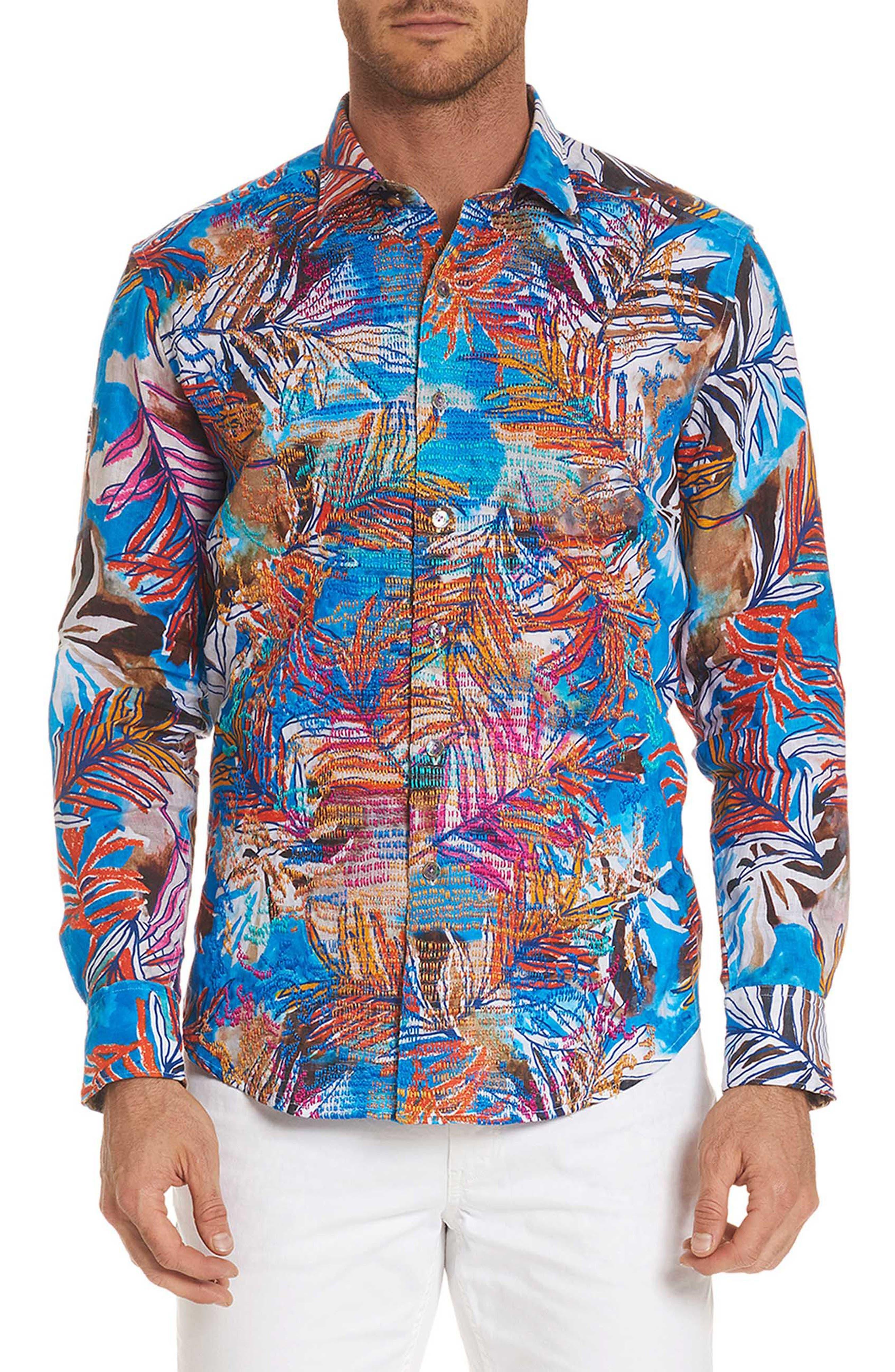 Kingpin Louie Limited Edition Classic Fit Linen Sport Shirt,                         Main,                         color, 400