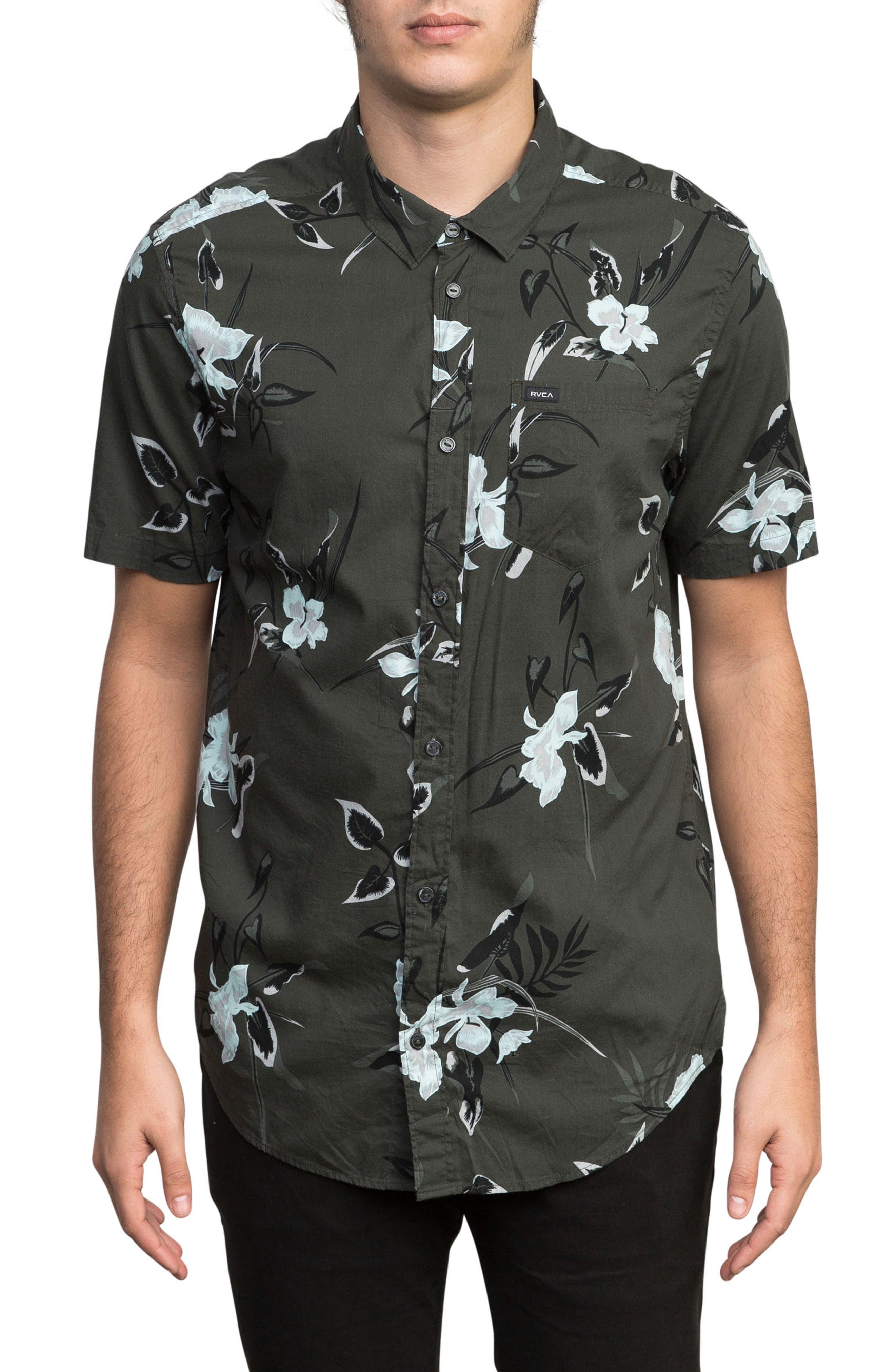 Moonflower Woven Shirt,                             Main thumbnail 1, color,                             008