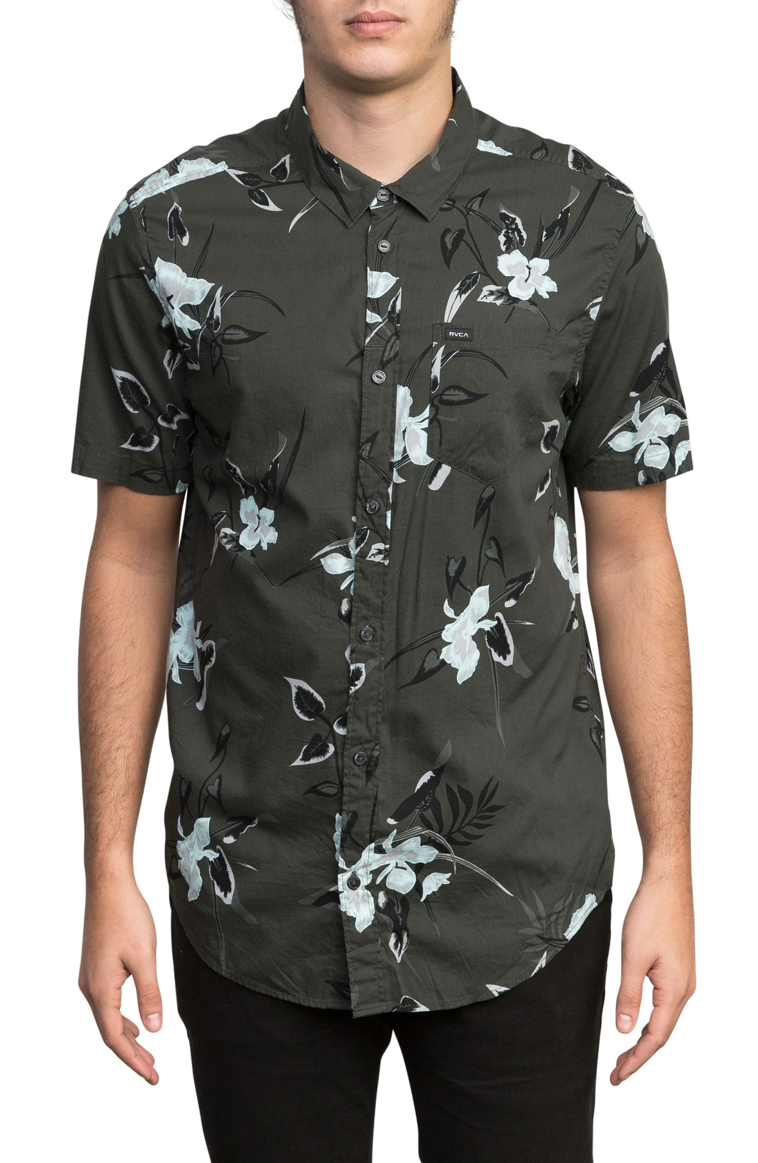 Moonflower Woven Shirt,                         Main,                         color, 008