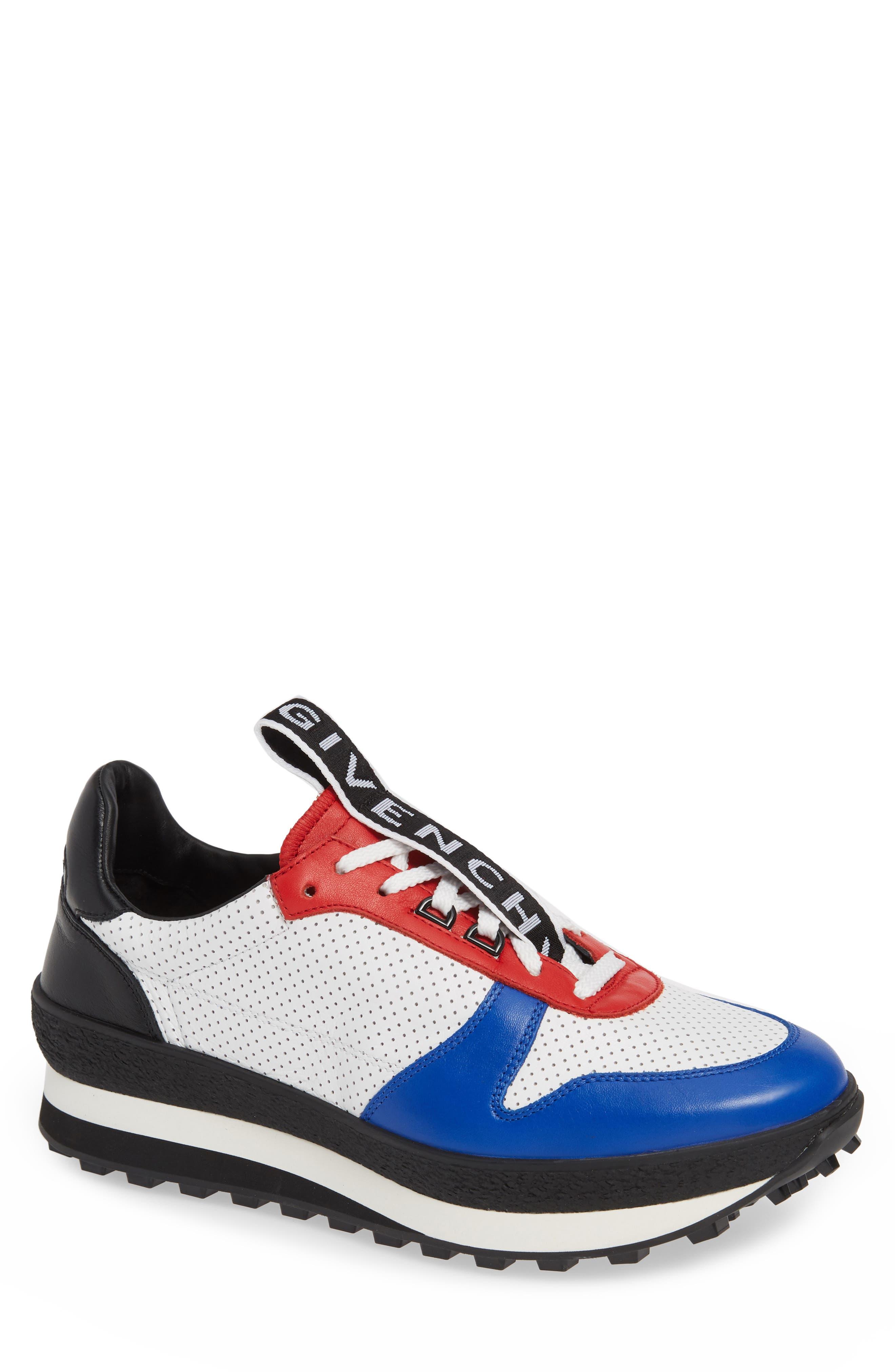 TR3 Low Runner Sneaker,                             Main thumbnail 1, color,                             WHITE/ RED/ BLACK