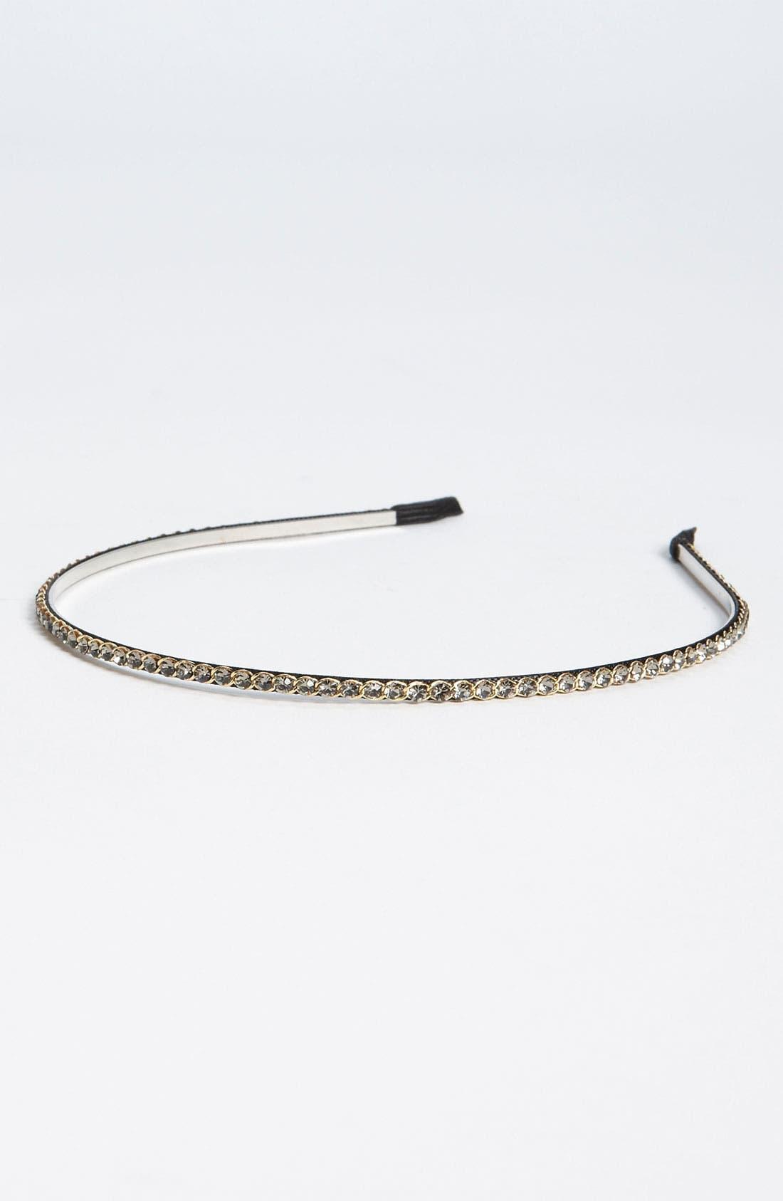 Skinny Crystal Headband,                             Main thumbnail 3, color,