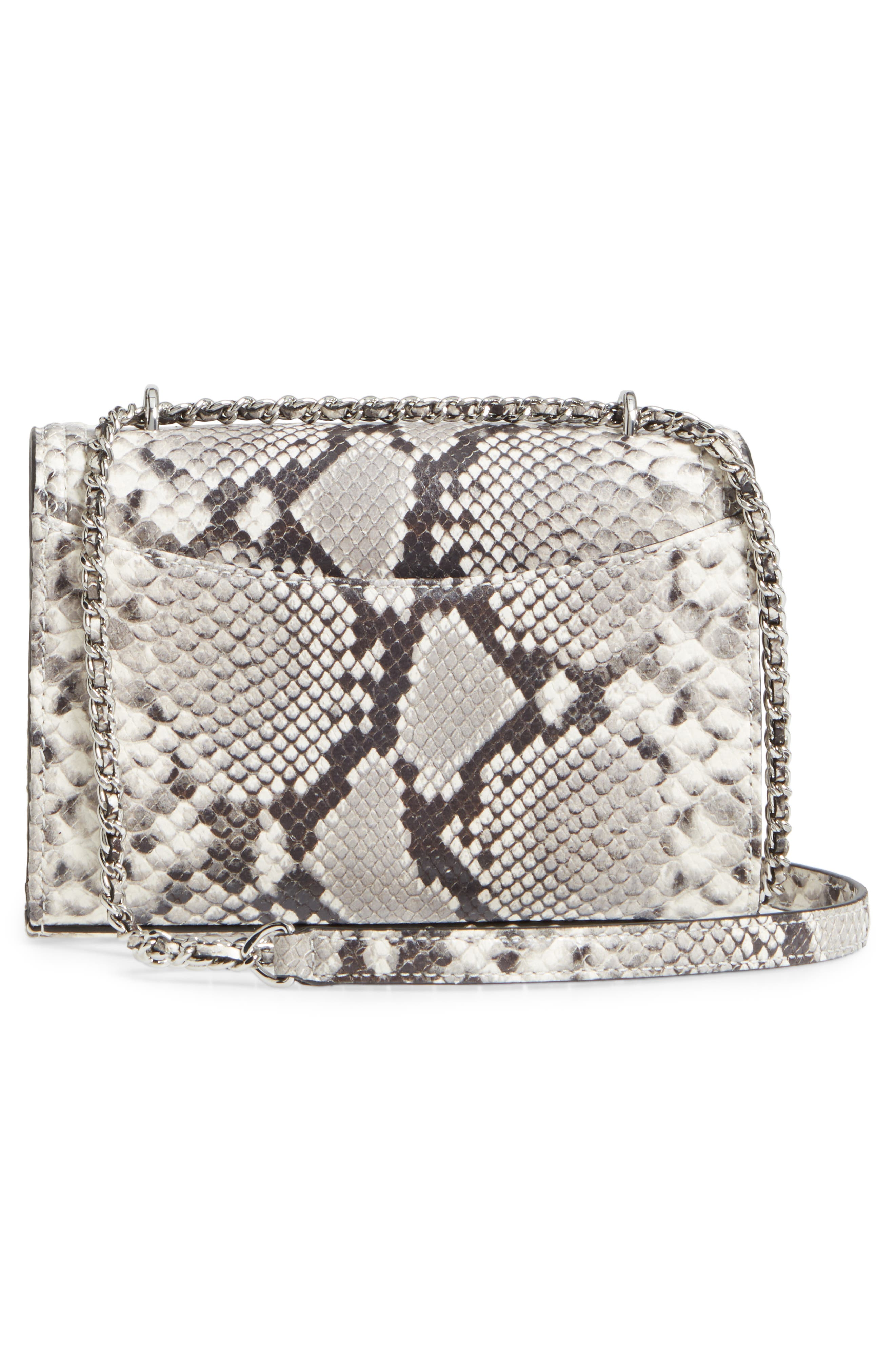 Small Fleming Leather Convertible Shoulder Bag,                             Alternate thumbnail 3, color,                             001