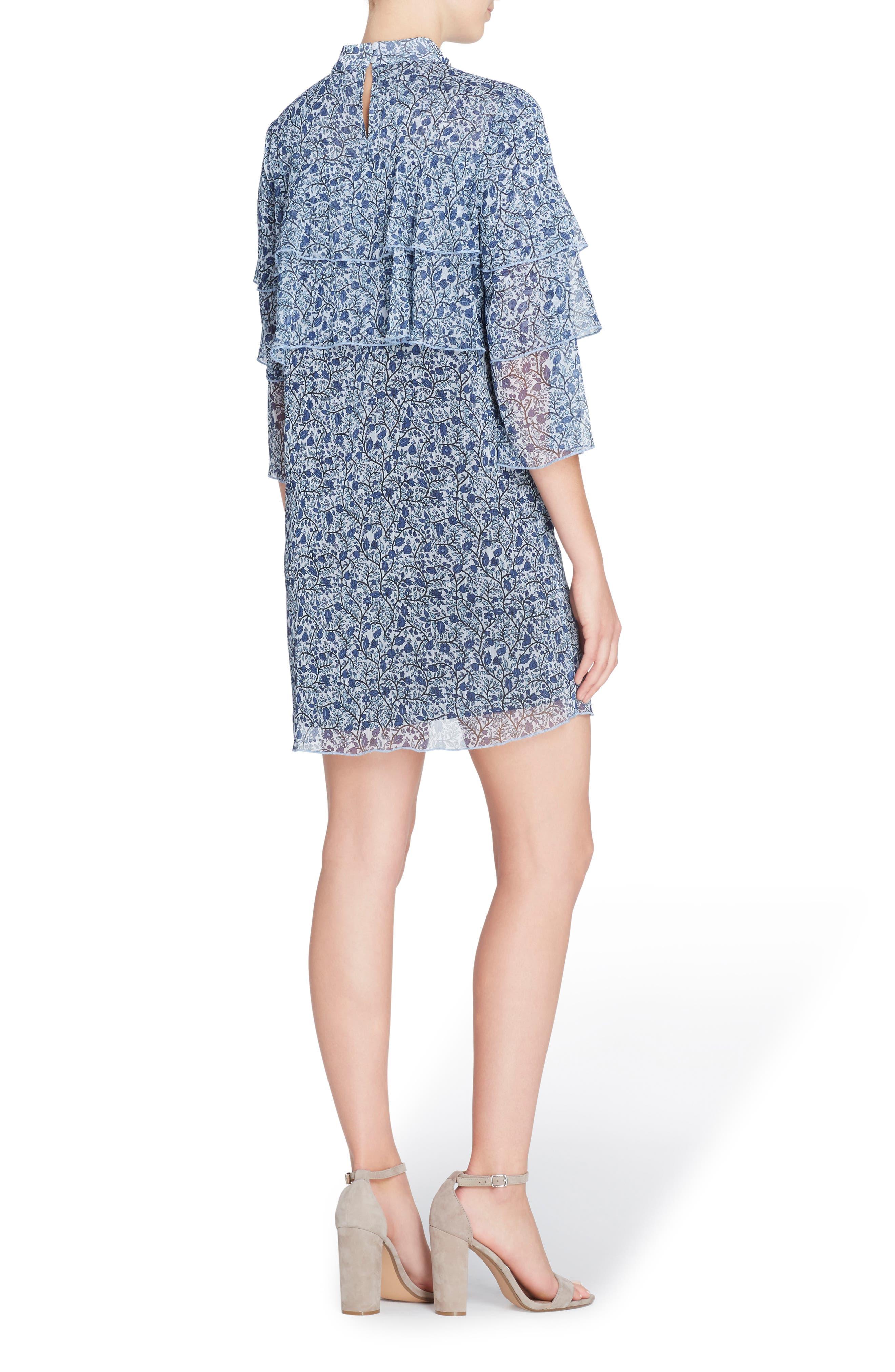 Cass Print Chiffon Dress,                             Alternate thumbnail 4, color,