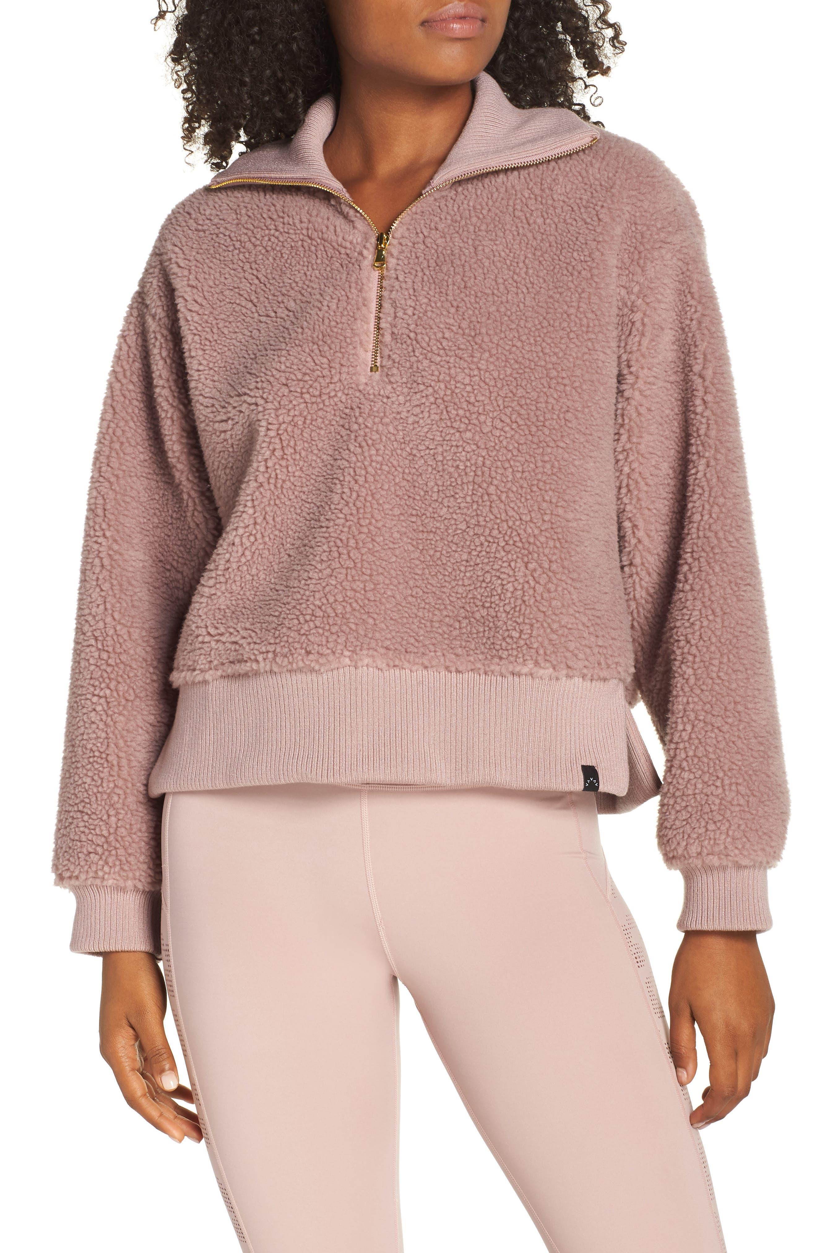 Daphne Fleece Pullover,                         Main,                         color, DEAUVILLE