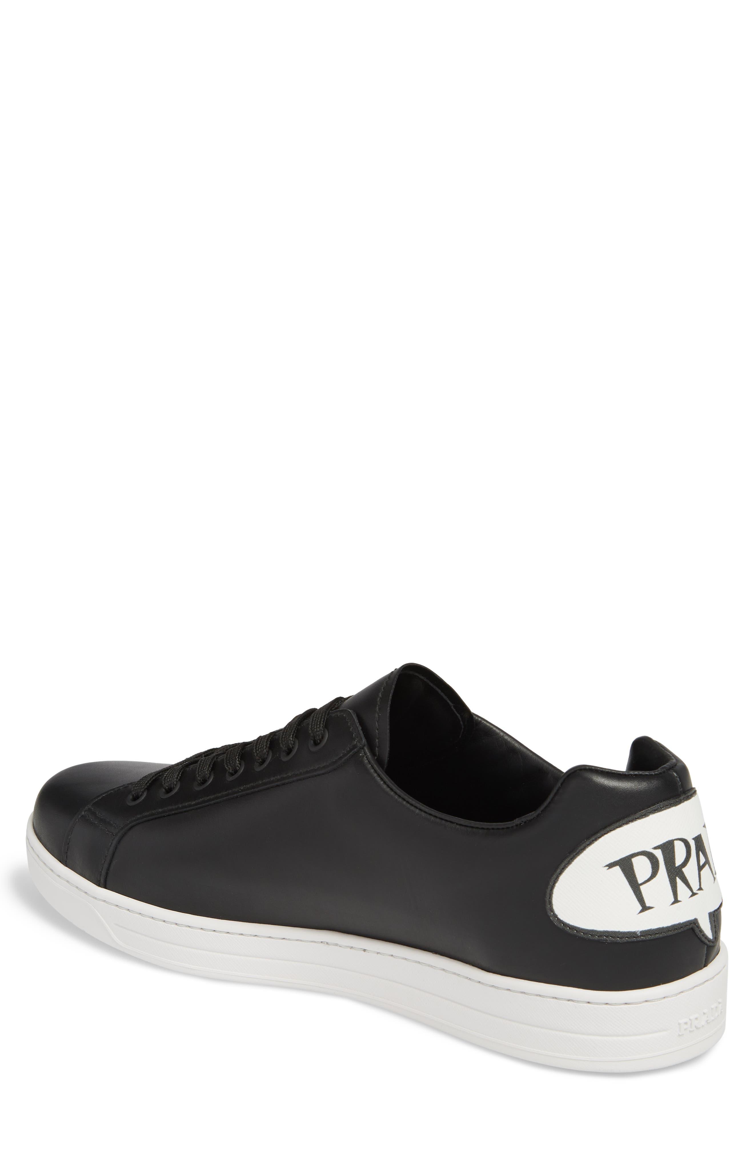 PRADA LINEA ROSSA,                             Patch Low Top Sneaker,                             Alternate thumbnail 2, color,                             012