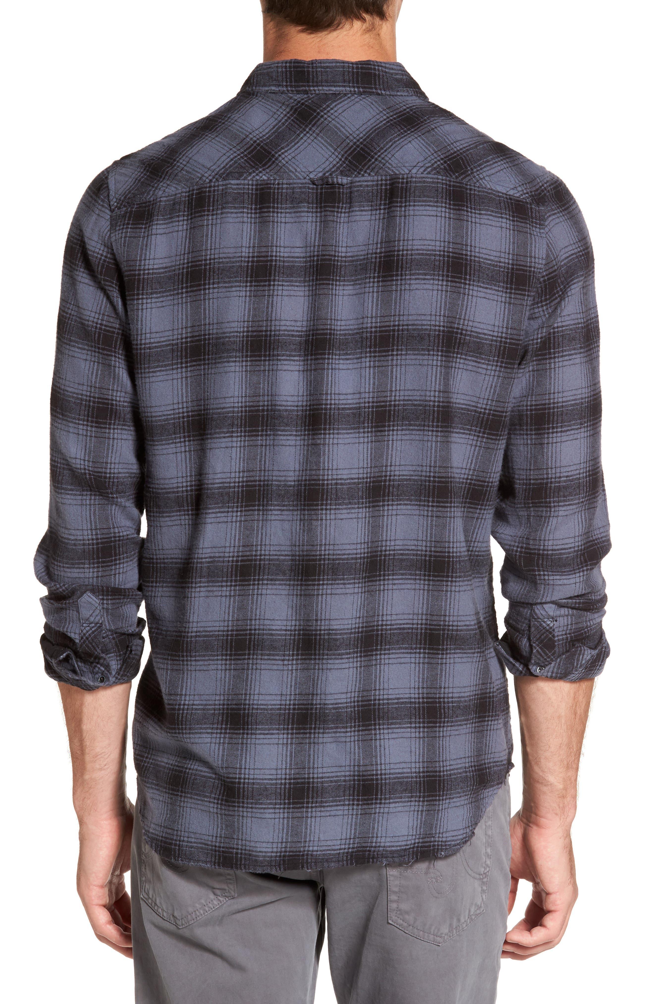Grady Plaid Flannel Sport Shirt,                             Alternate thumbnail 2, color,                             008