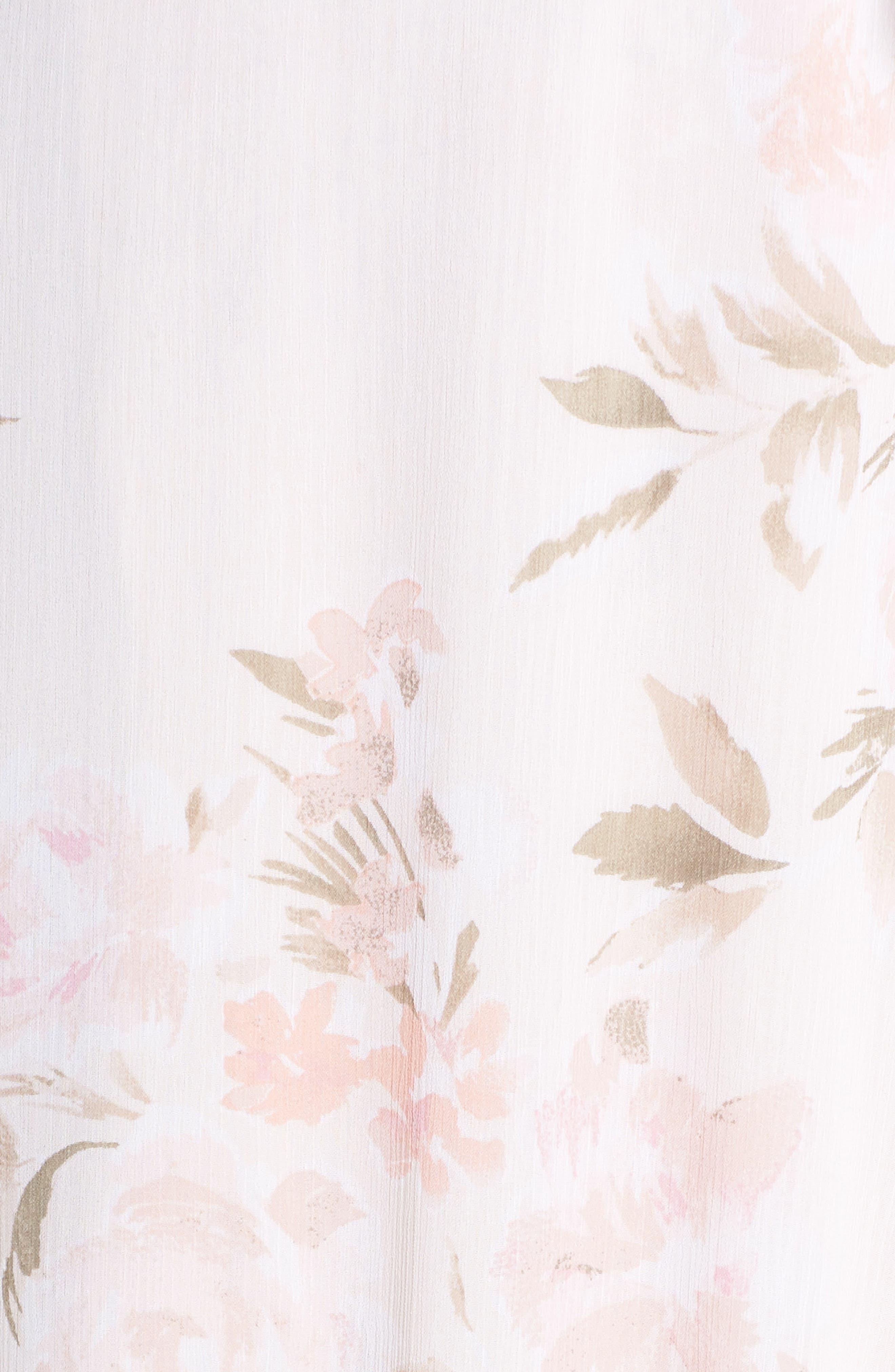 The Natasha Floral Wrap Maxi Dress,                             Alternate thumbnail 5, color,                             BLUSH BOUQUET PRINT