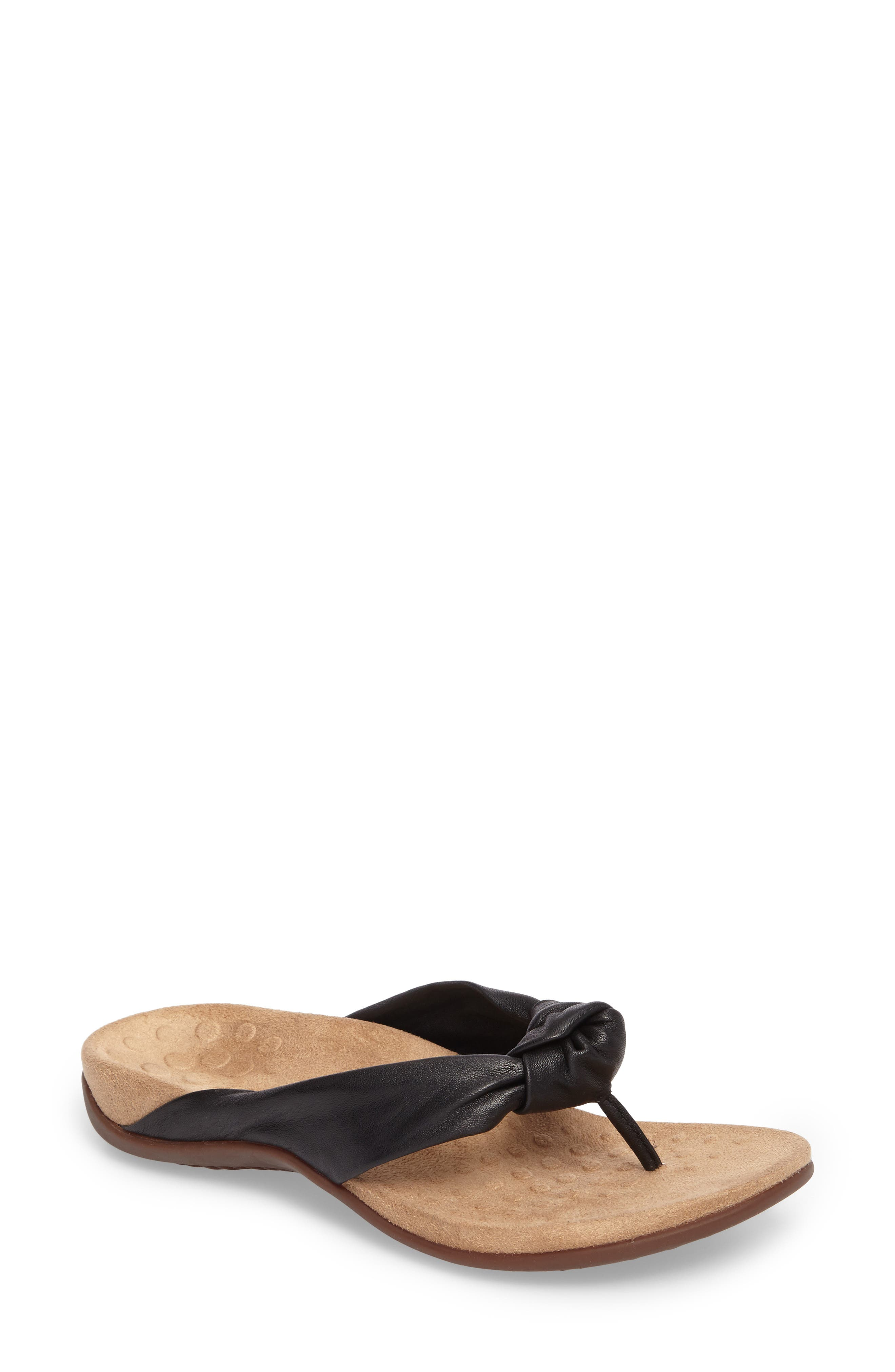 Pippa Flip Flop,                             Main thumbnail 1, color,                             BLACK LEATHER