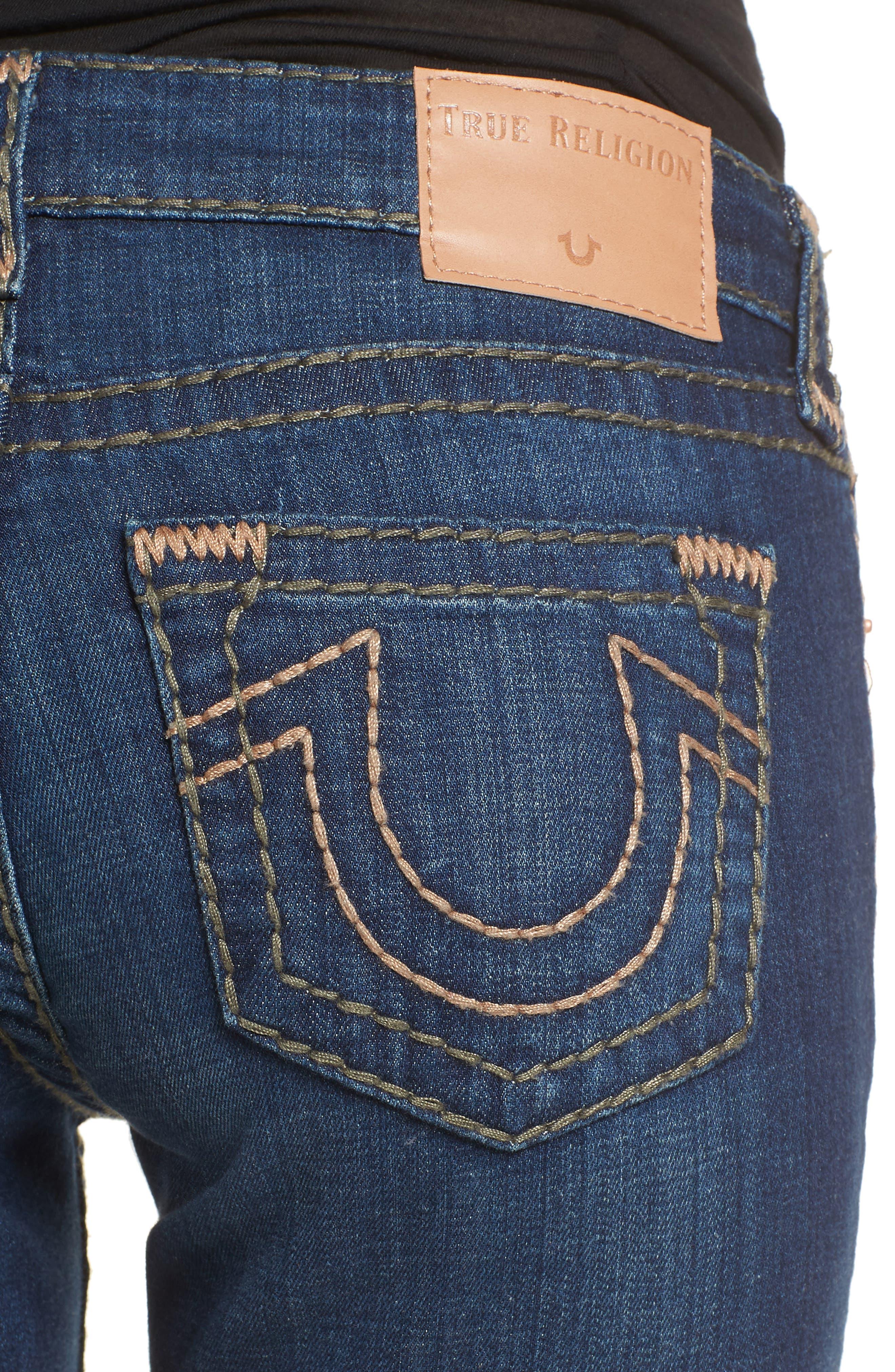 Halle Skinny Jeans,                             Alternate thumbnail 4, color,                             402