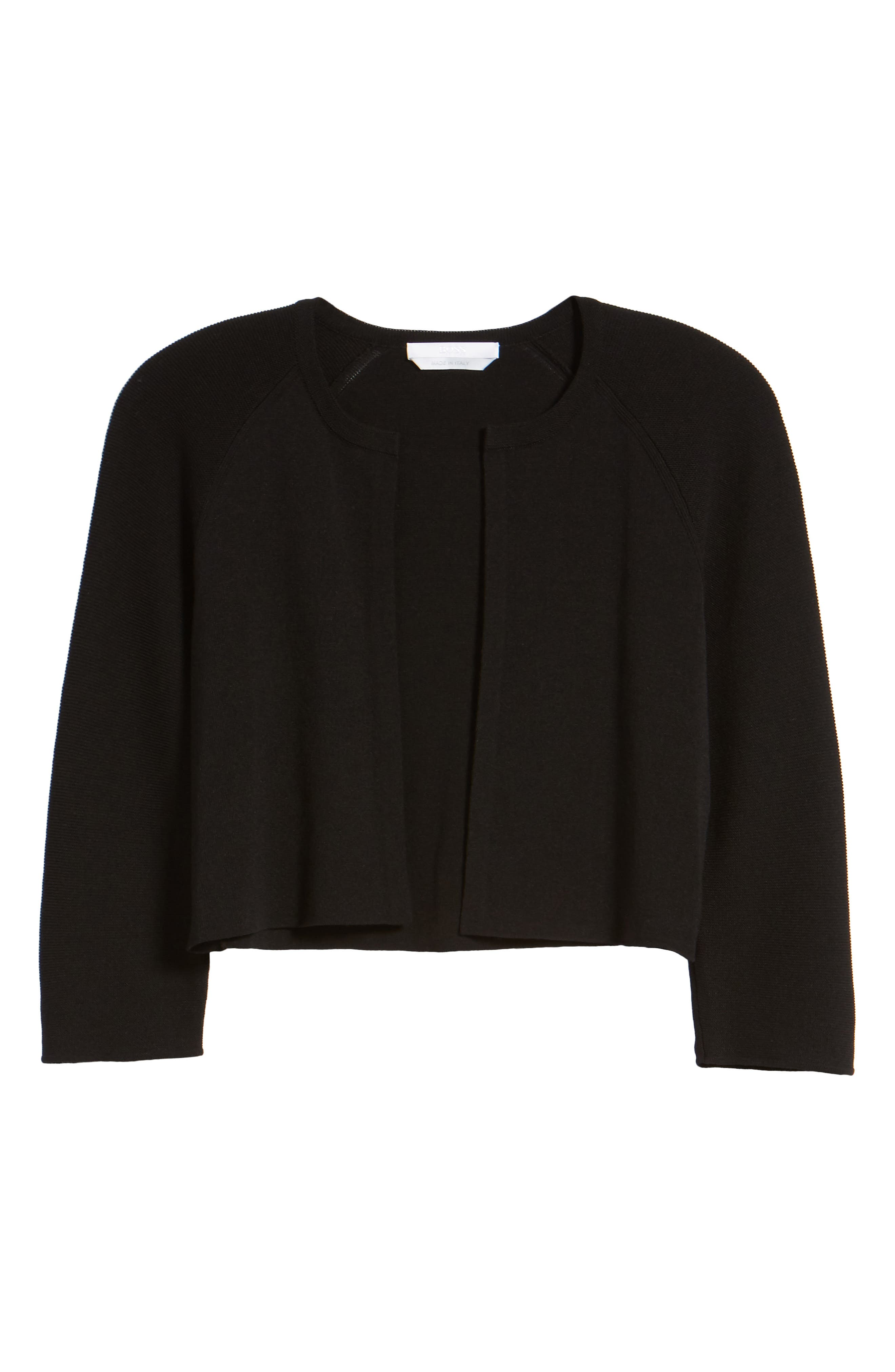 Fatildi Bolero Cardigan,                             Alternate thumbnail 6, color,                             BLACK