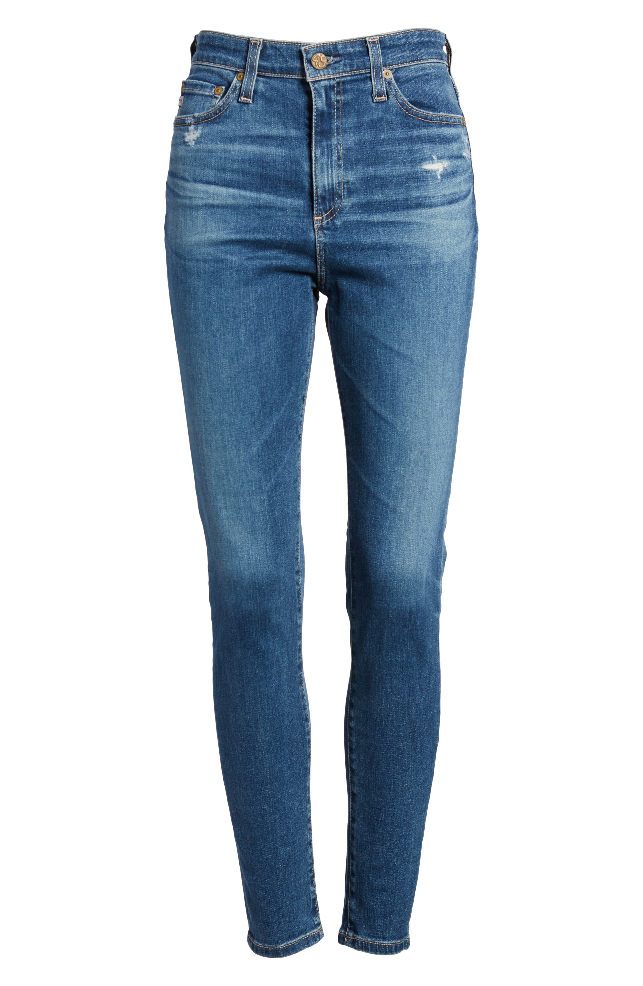 Mila Ankle Skinny Jeans,                             Alternate thumbnail 7, color,                             8 YEARS INFAMY