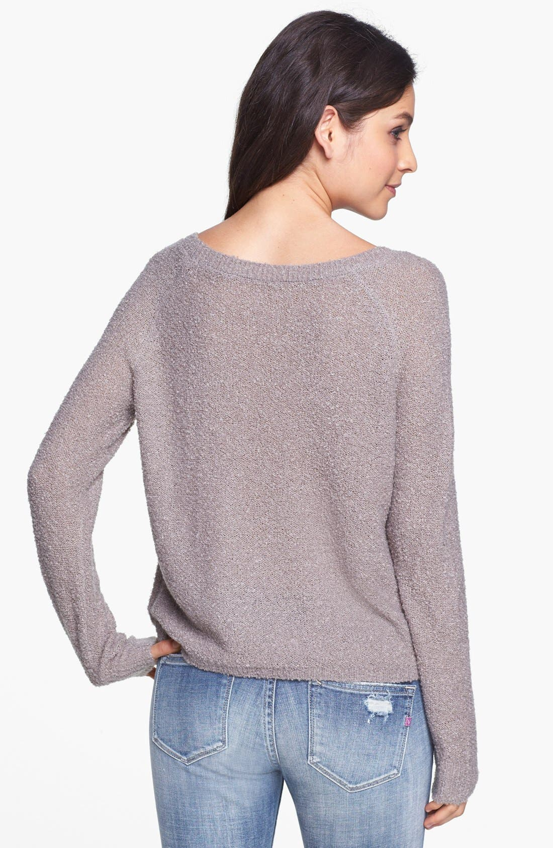 'Grunge' Textured Sweater,                             Alternate thumbnail 14, color,