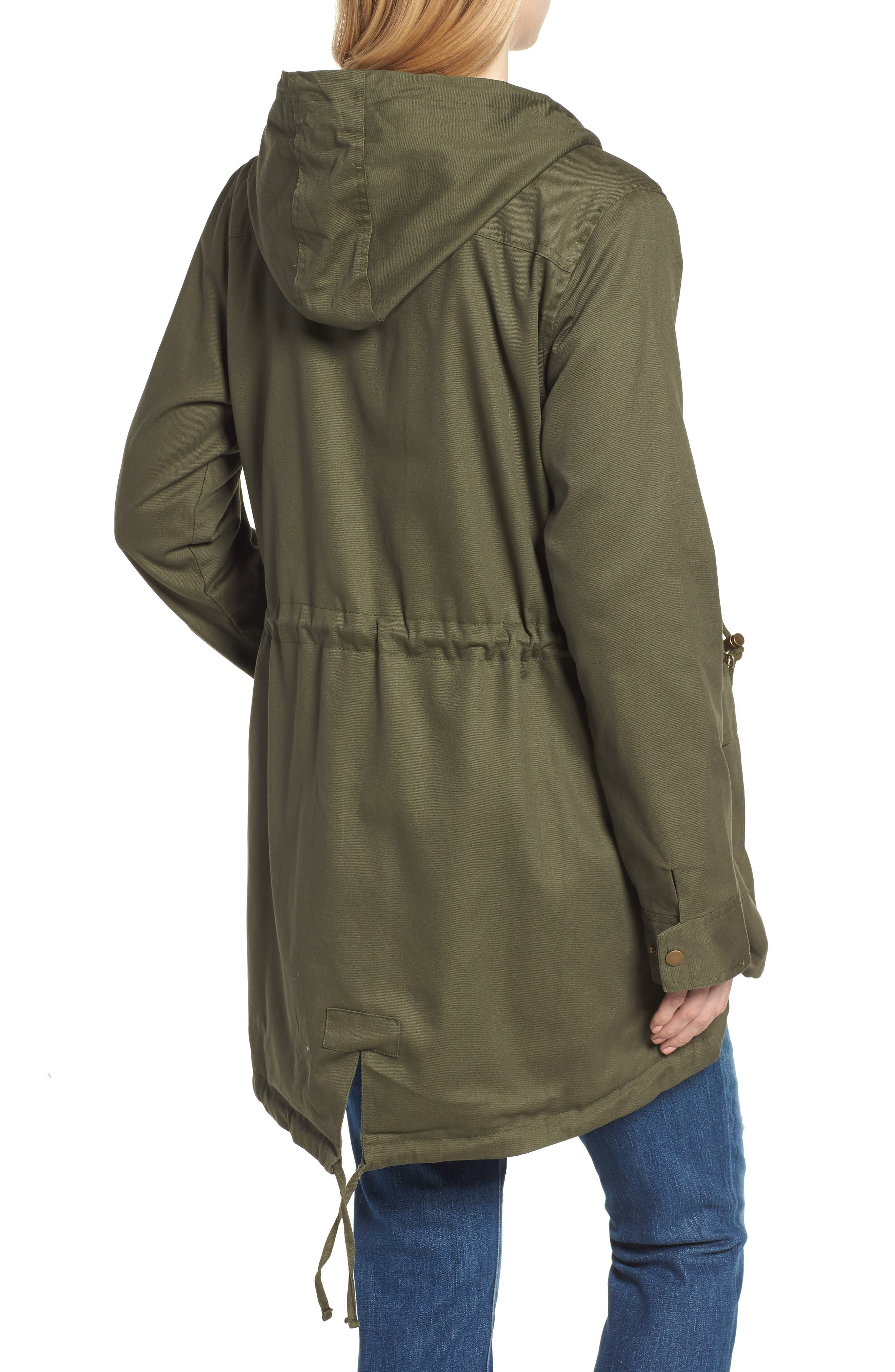 Convertible Military 3-in-1 Maternity/Nursing Jacket,                             Alternate thumbnail 3, color,                             KHAKI GREEN