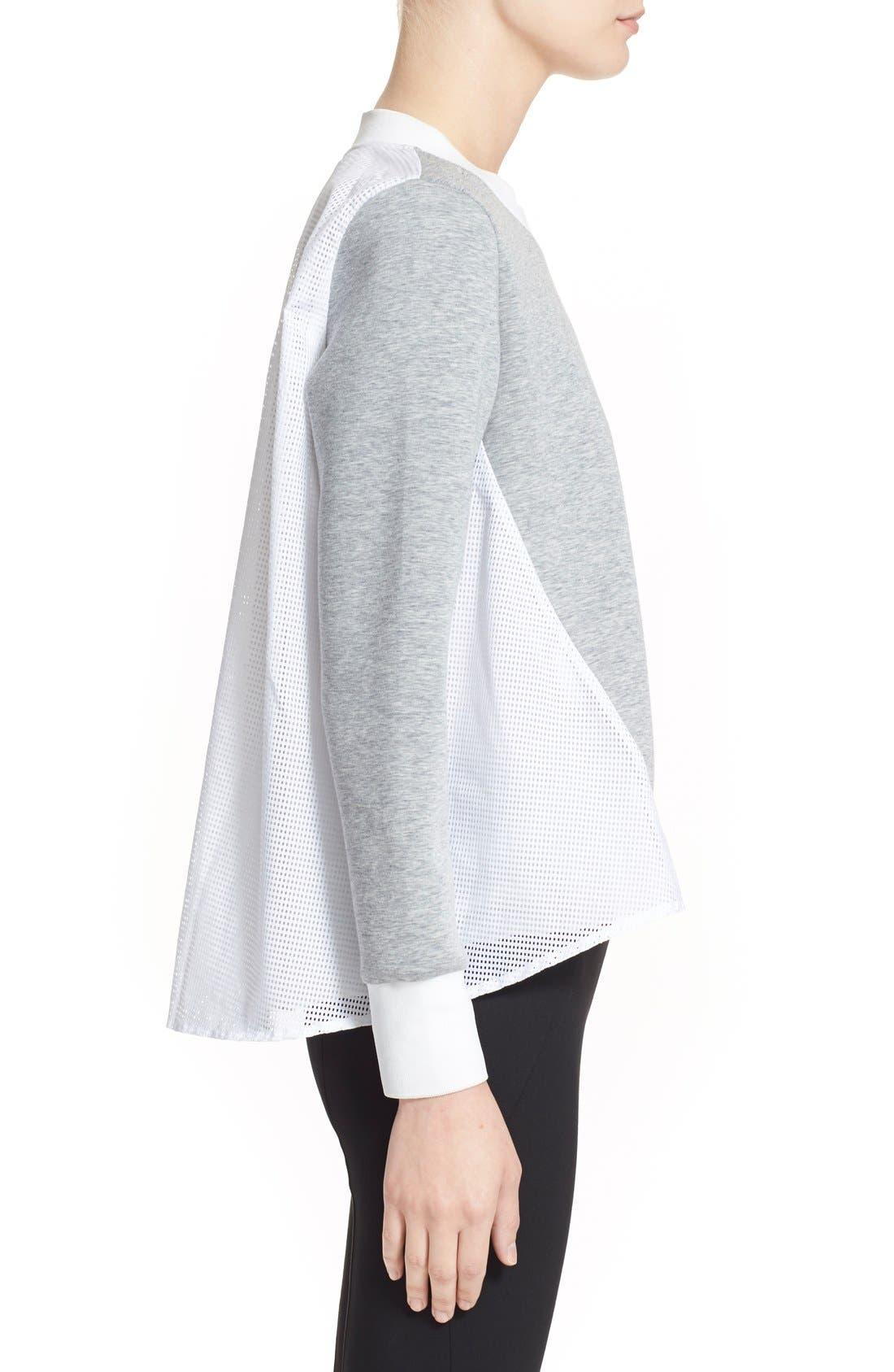 'Maglia Girocollo' Mixed Media Sweatshirt,                             Alternate thumbnail 2, color,                             021