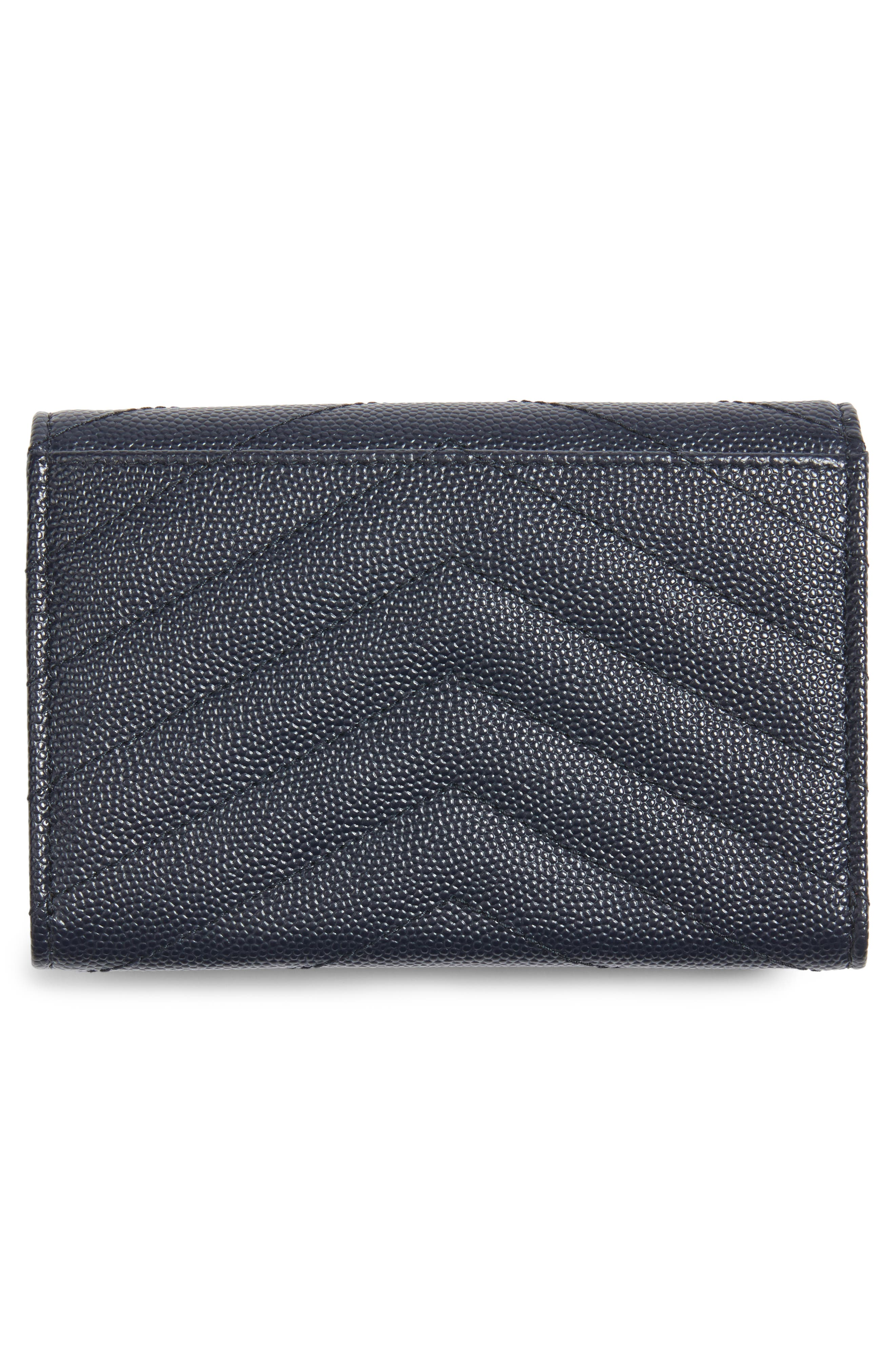 'Small Monogram' Leather French Wallet,                             Alternate thumbnail 24, color,