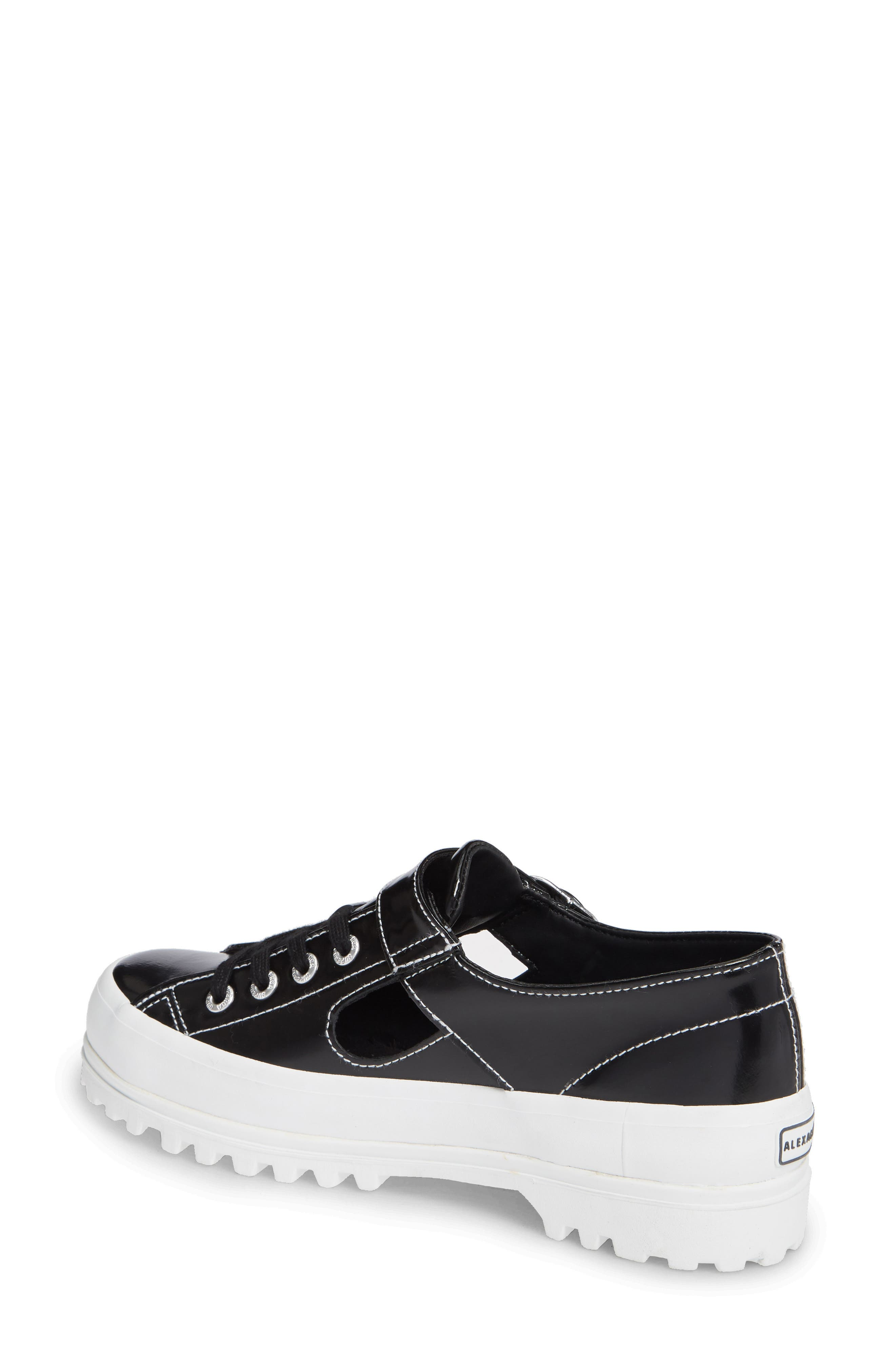 x Alexa Chung 2254 Alpinaleapatentw Platform Sneaker,                             Alternate thumbnail 2, color,                             BLACK