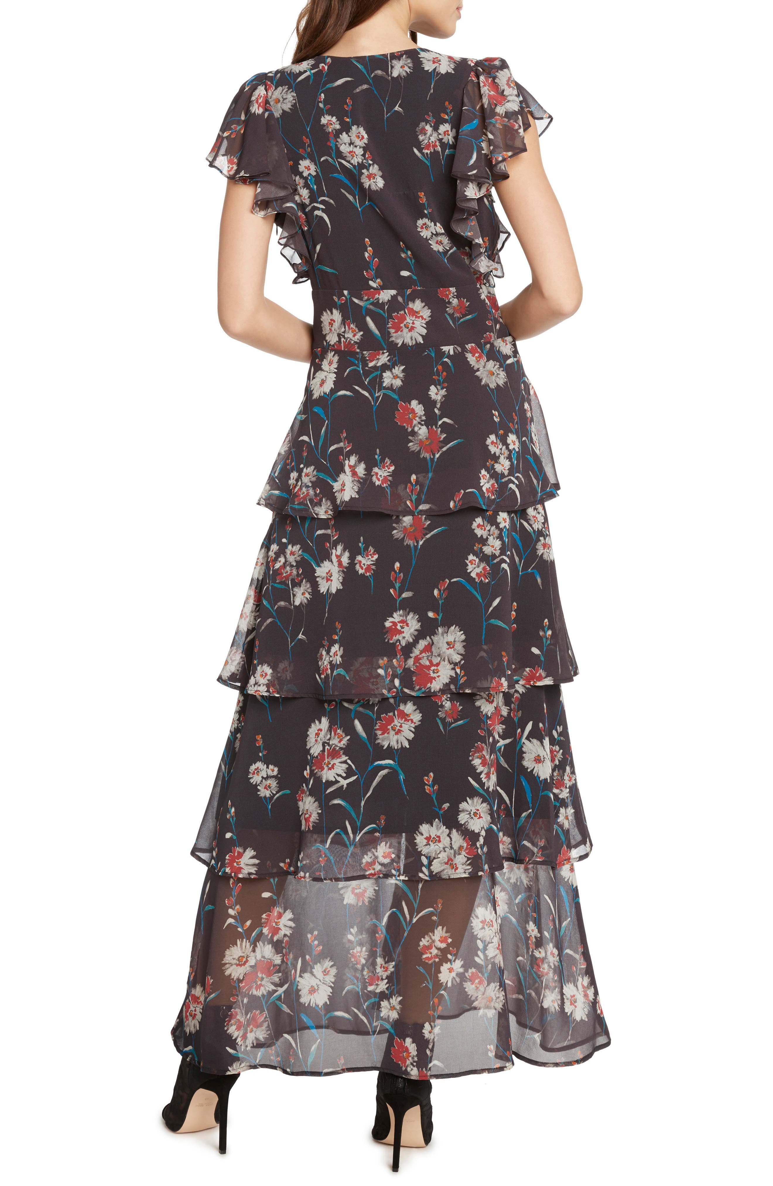 Floral Tiered Maxi Dress,                             Alternate thumbnail 2, color,                             034