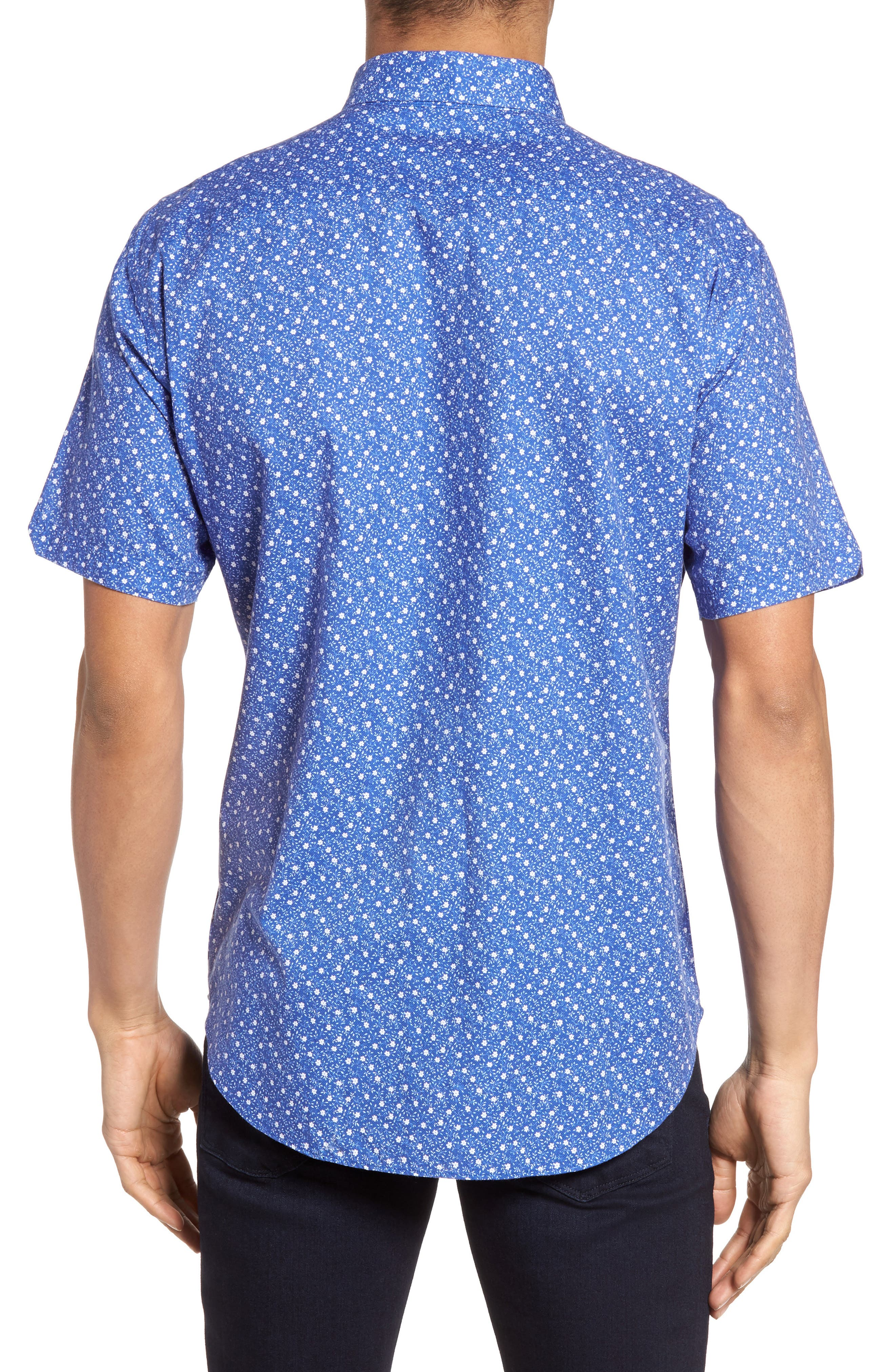 Rashid Print Sport Shirt,                             Alternate thumbnail 2, color,                             408