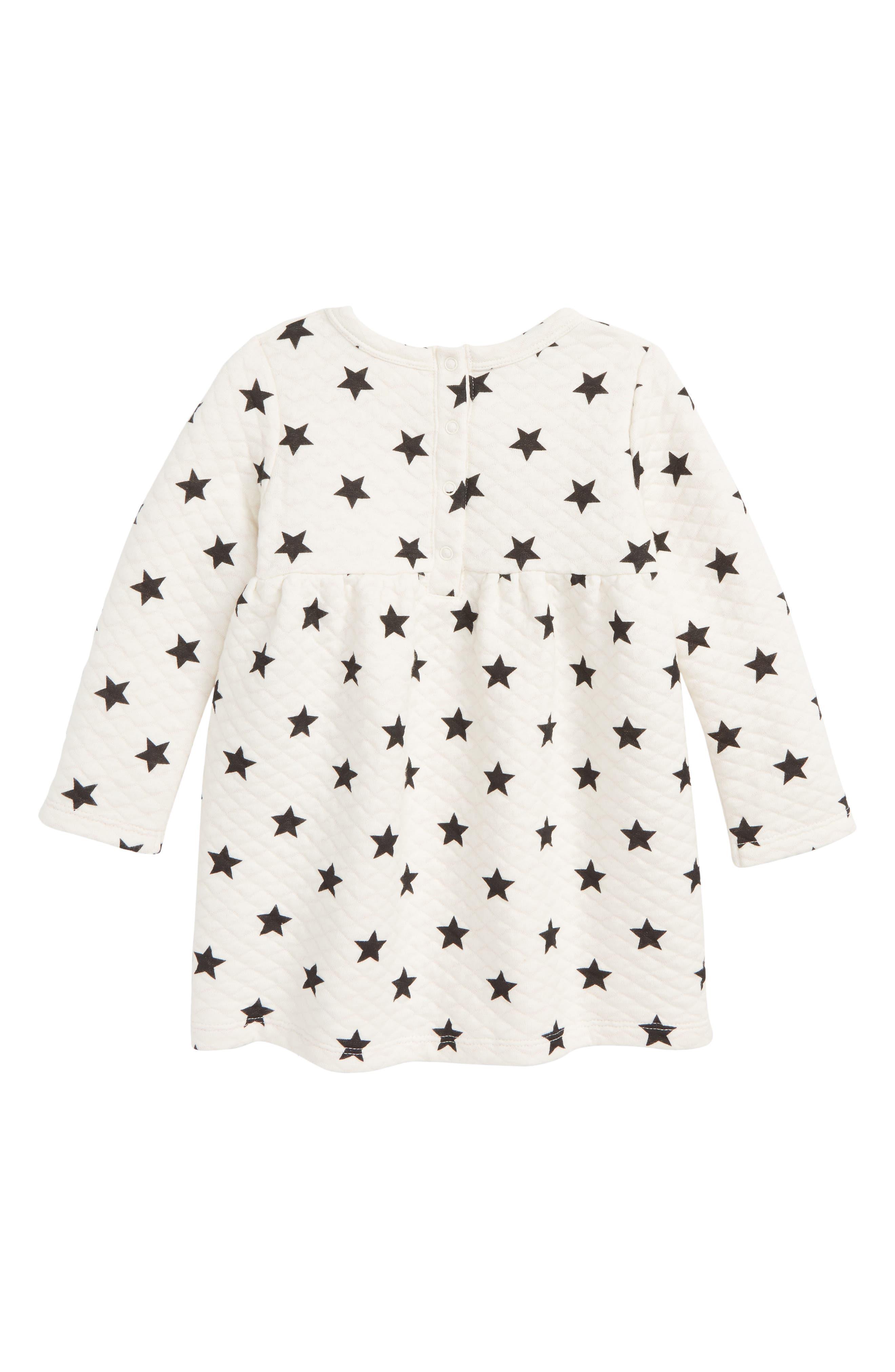 Star Quilted Dress,                             Alternate thumbnail 2, color,                             IVORY EGRET STARS