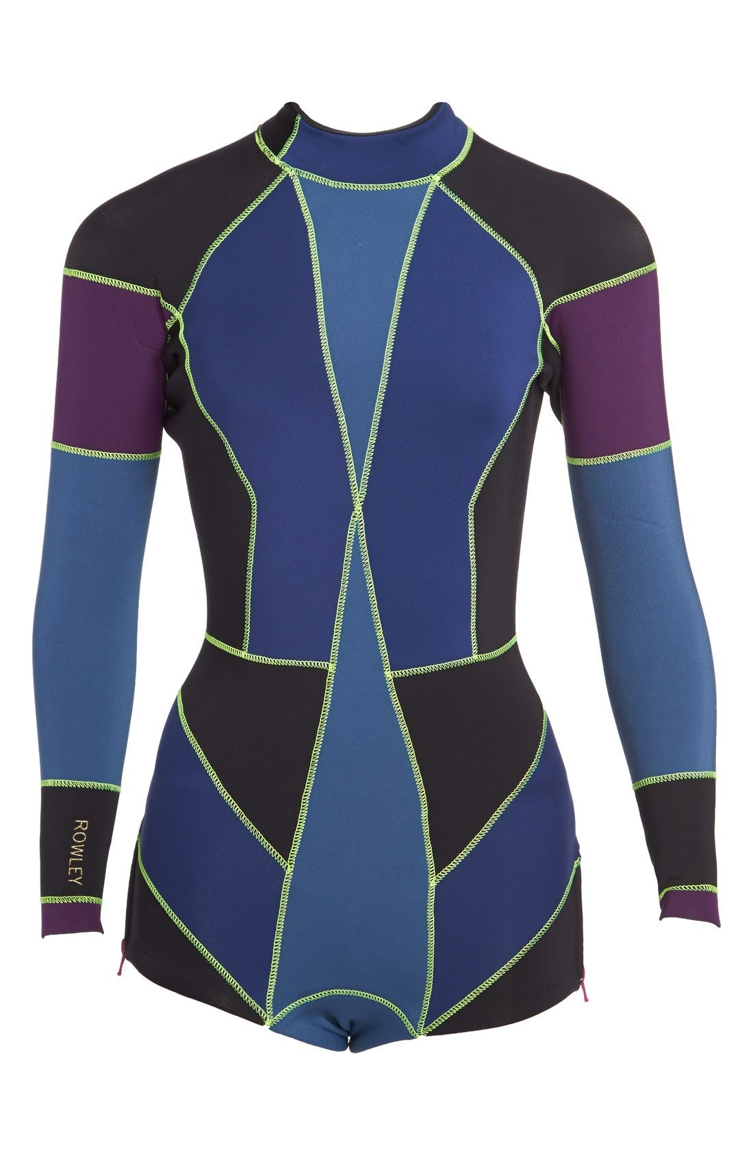 CYNTHIA ROWLEY,                             Colorblock Wetsuit,                             Alternate thumbnail 3, color,                             410