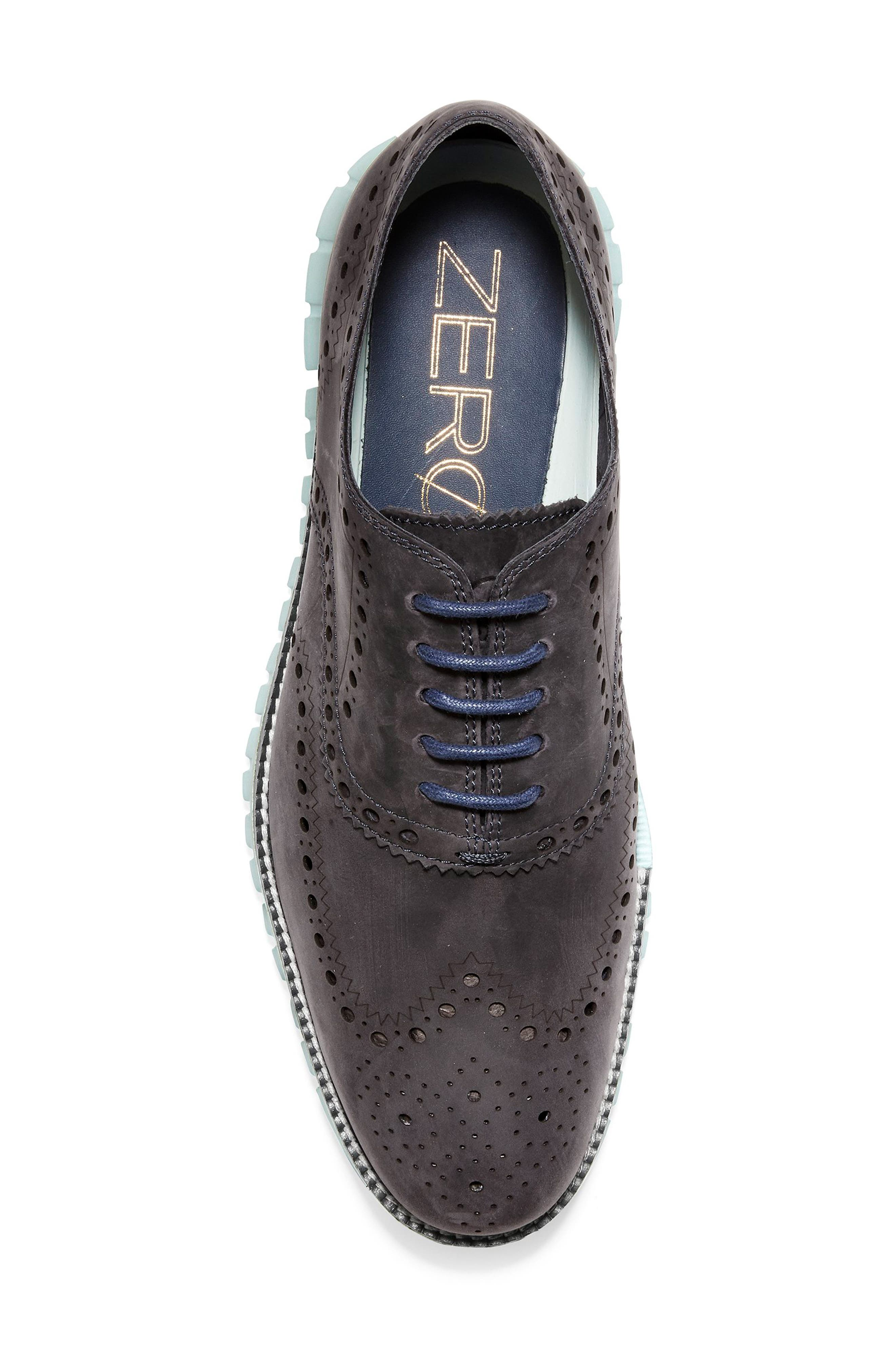 'ZeroGrand' Wingtip Oxford,                             Alternate thumbnail 5, color,                             PEACOAT/ MIST