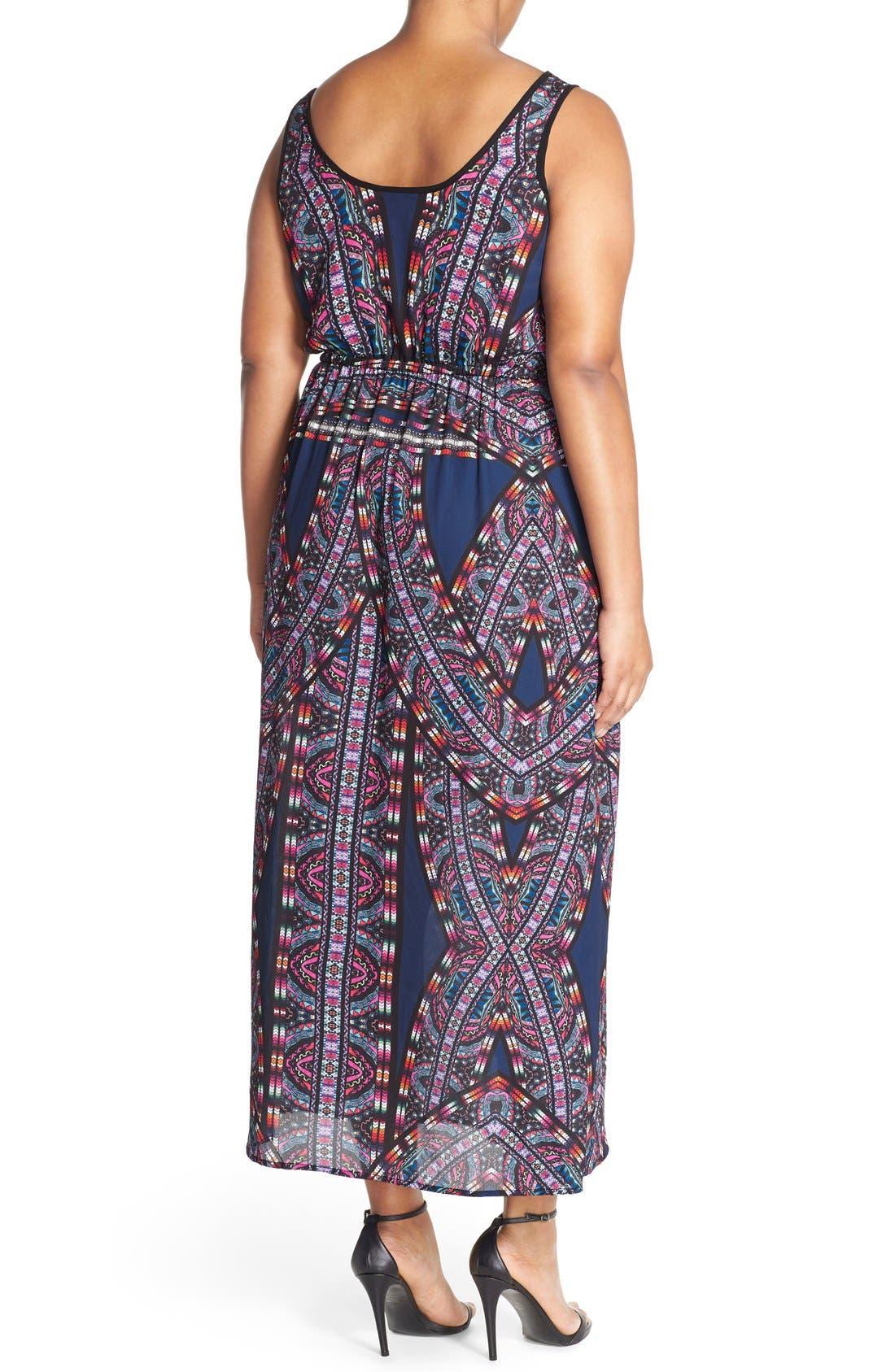 'Biba' Drawstring Maxi Dress,                             Alternate thumbnail 7, color,