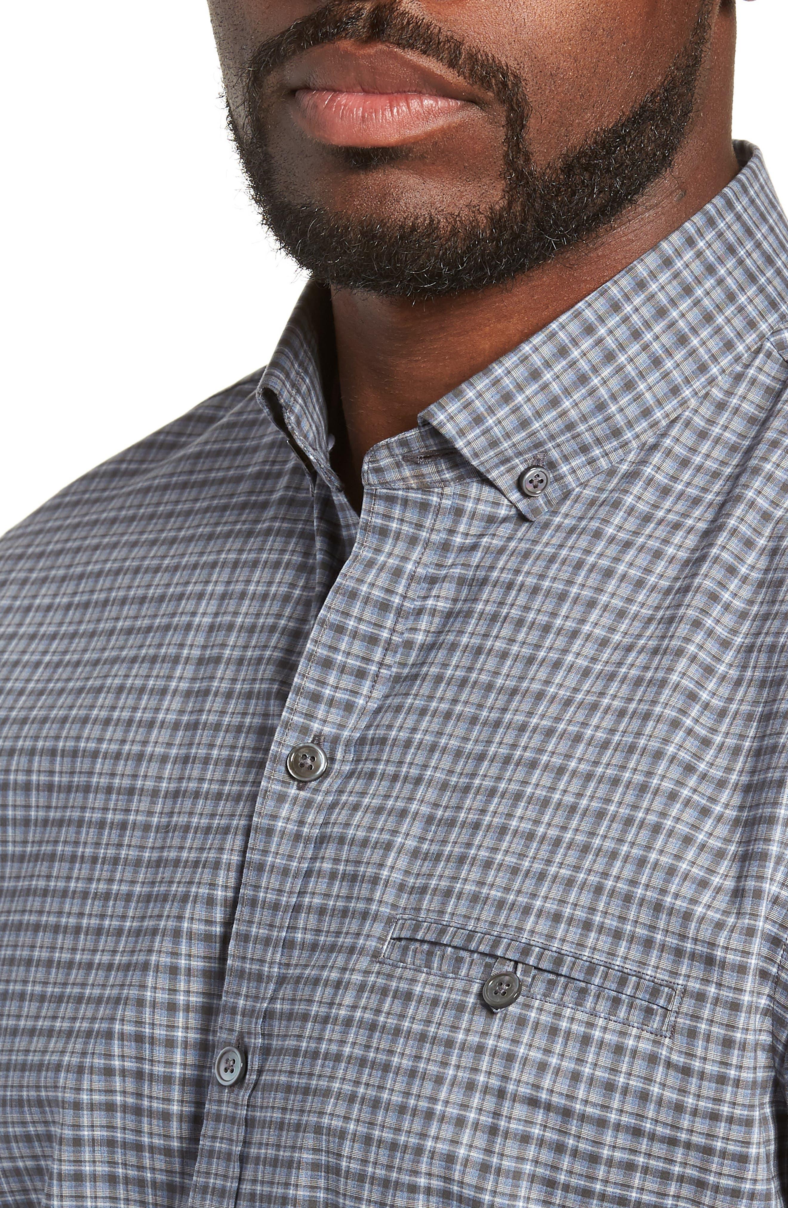 ZACHARY PRELL,                             Chu Regular Fit Plaid Sport Shirt,                             Alternate thumbnail 2, color,                             021
