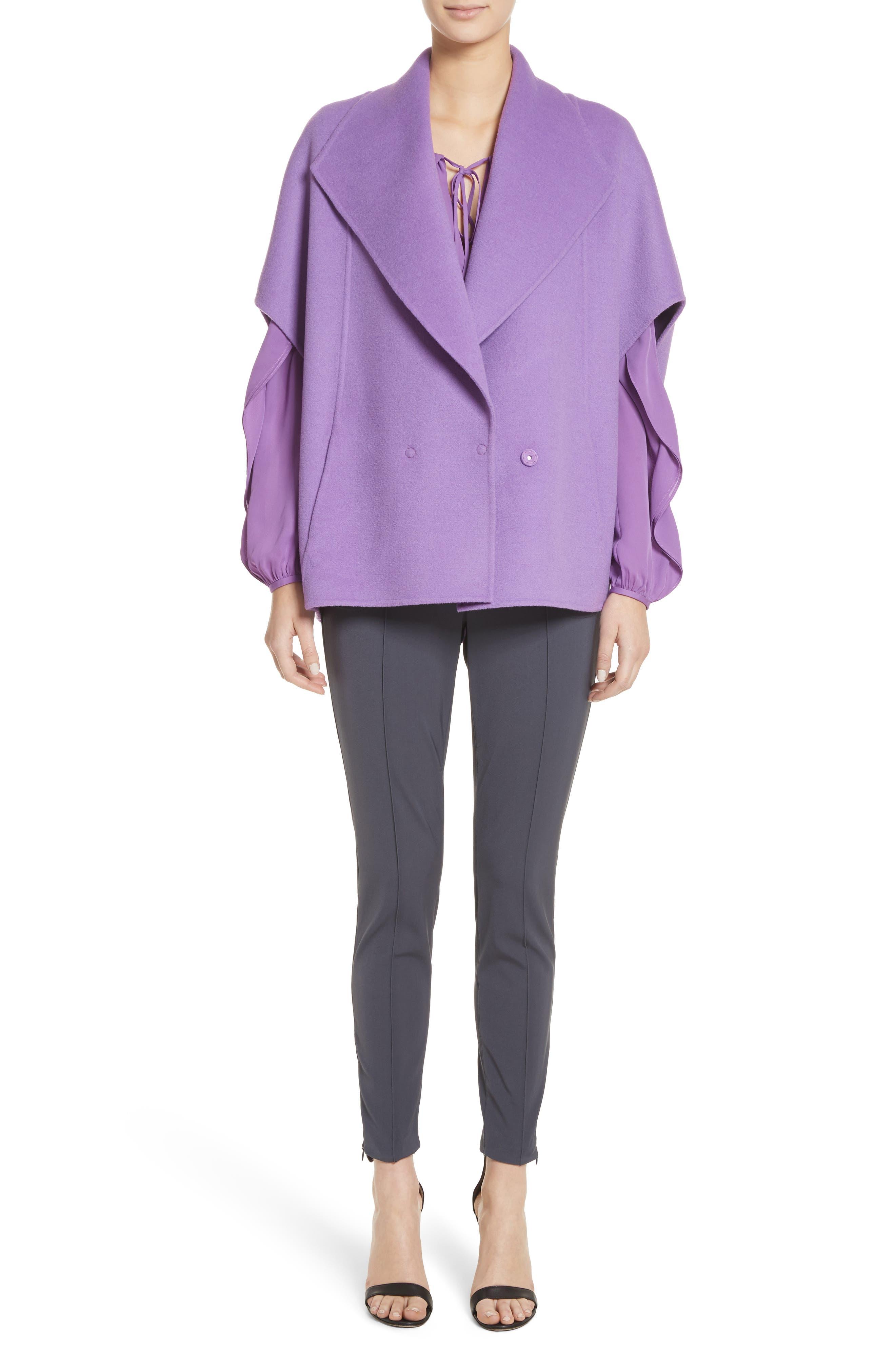 Double Face Wool & Angora Blend Jacket,                             Alternate thumbnail 7, color,                             550