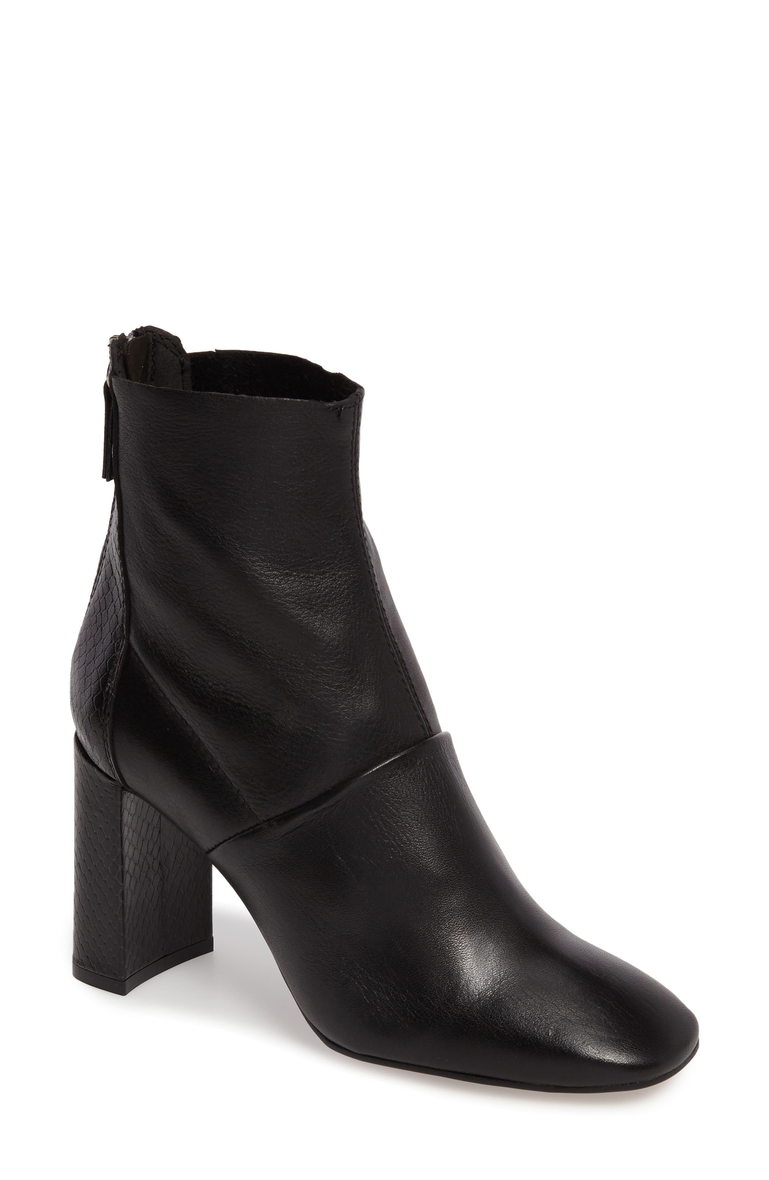 Hunk Snake-Textured Bootie,                             Main thumbnail 1, color,