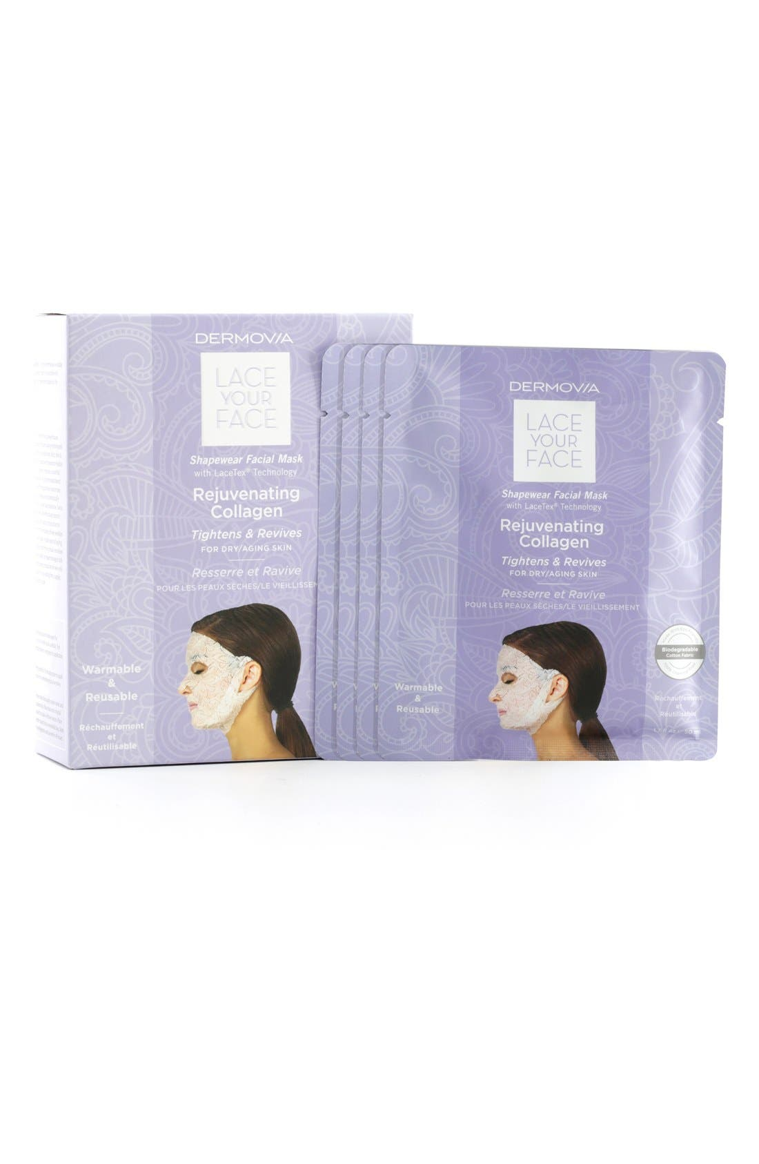 Lace Your Face Rejuvenating Collagen Compression Facial Mask,                             Alternate thumbnail 3, color,                             NONE