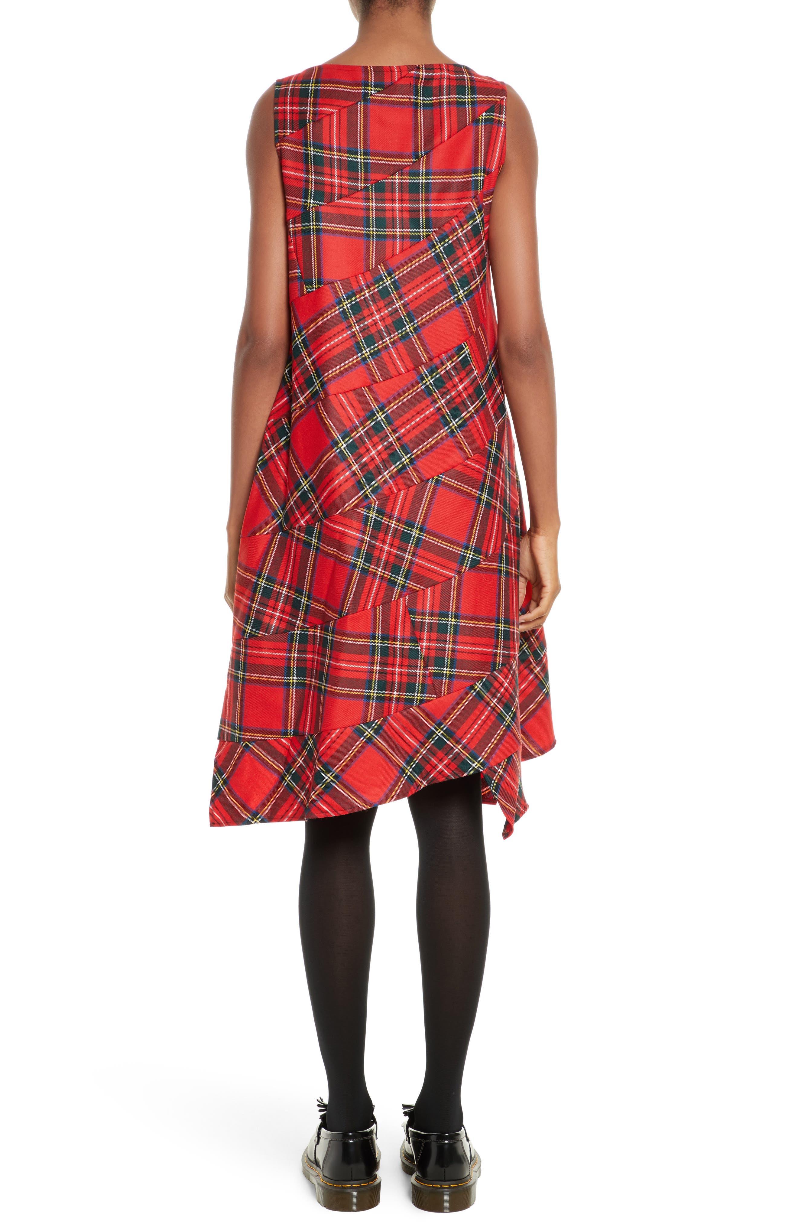 Tartan Plaid Dress,                             Alternate thumbnail 2, color,                             600