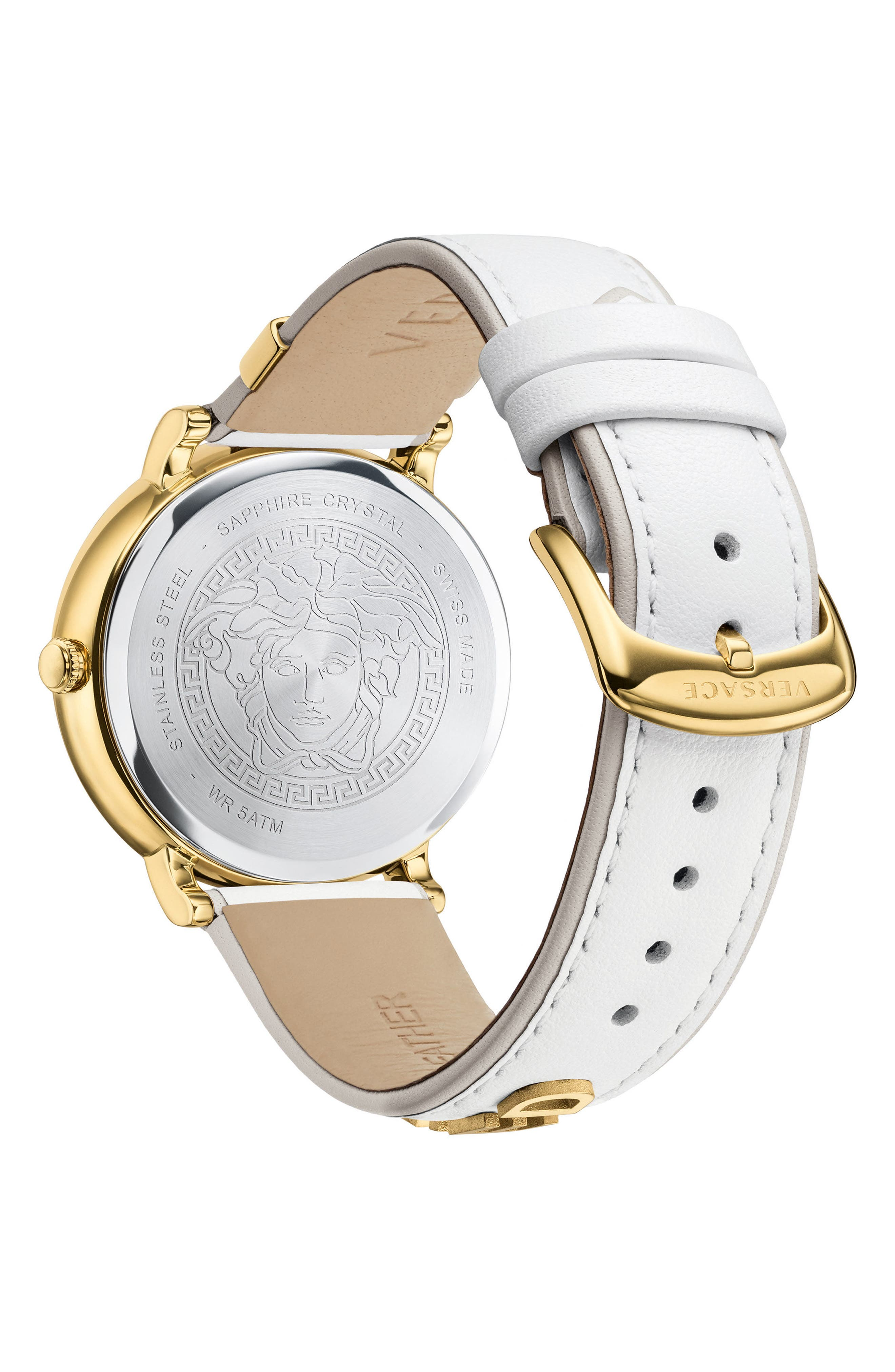 Manifesto Leather Strap Watch, 38mm,                             Alternate thumbnail 8, color,