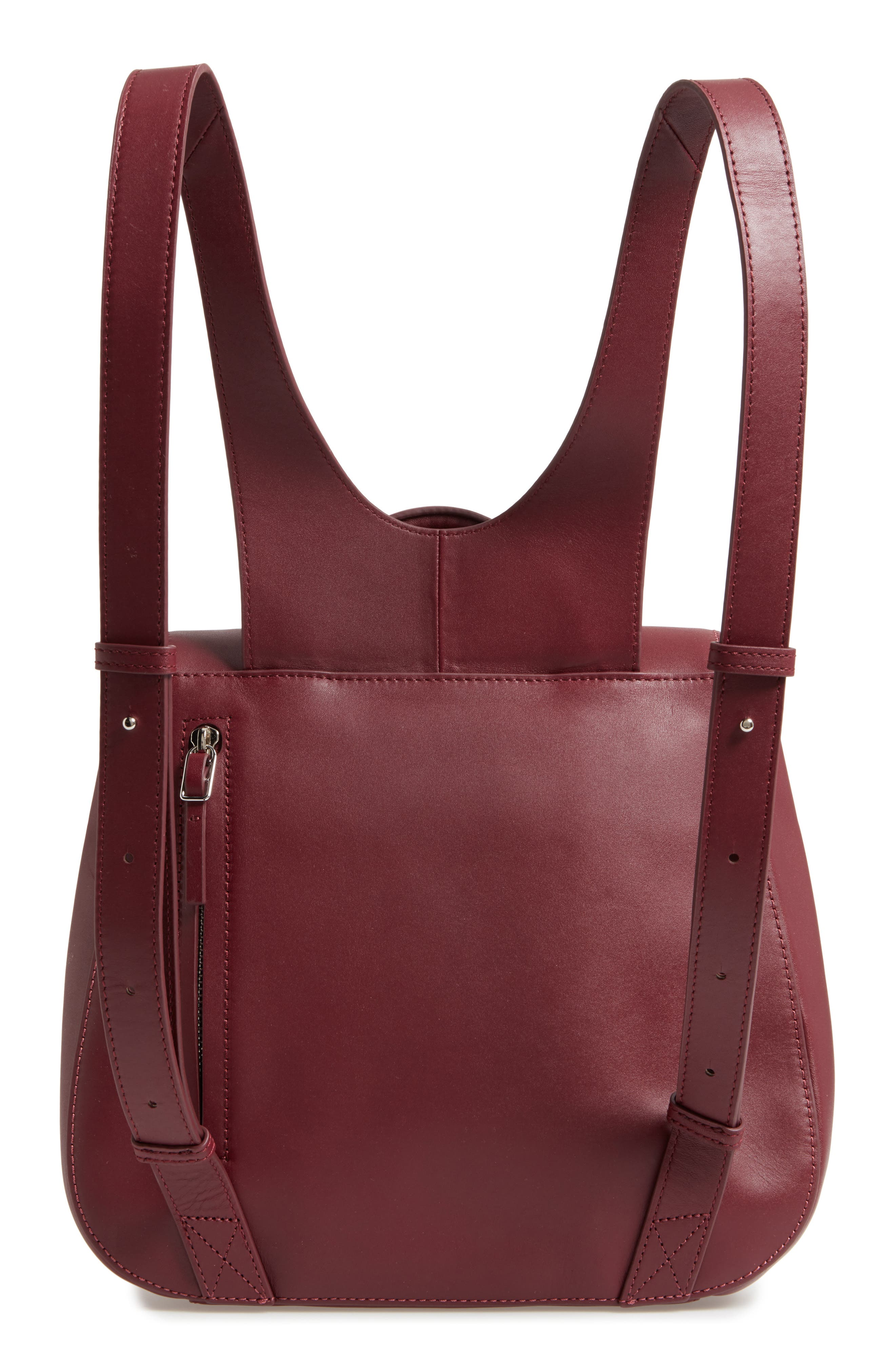 Kate Convertible Leather Backpack,                             Alternate thumbnail 3, color,                             600