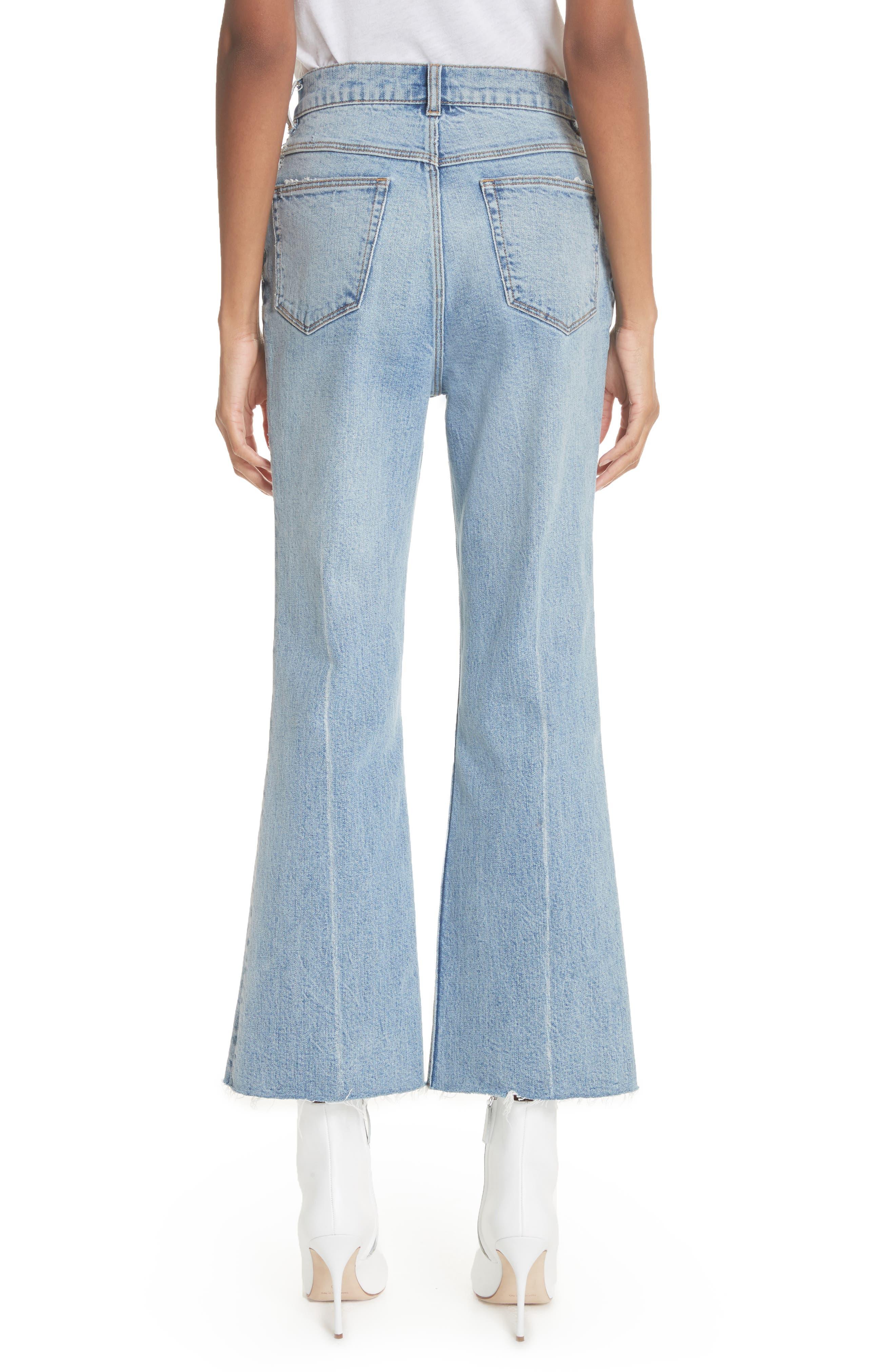 Ines Kick Bootcut Jeans,                             Alternate thumbnail 2, color,                             LEFT BANK WASH