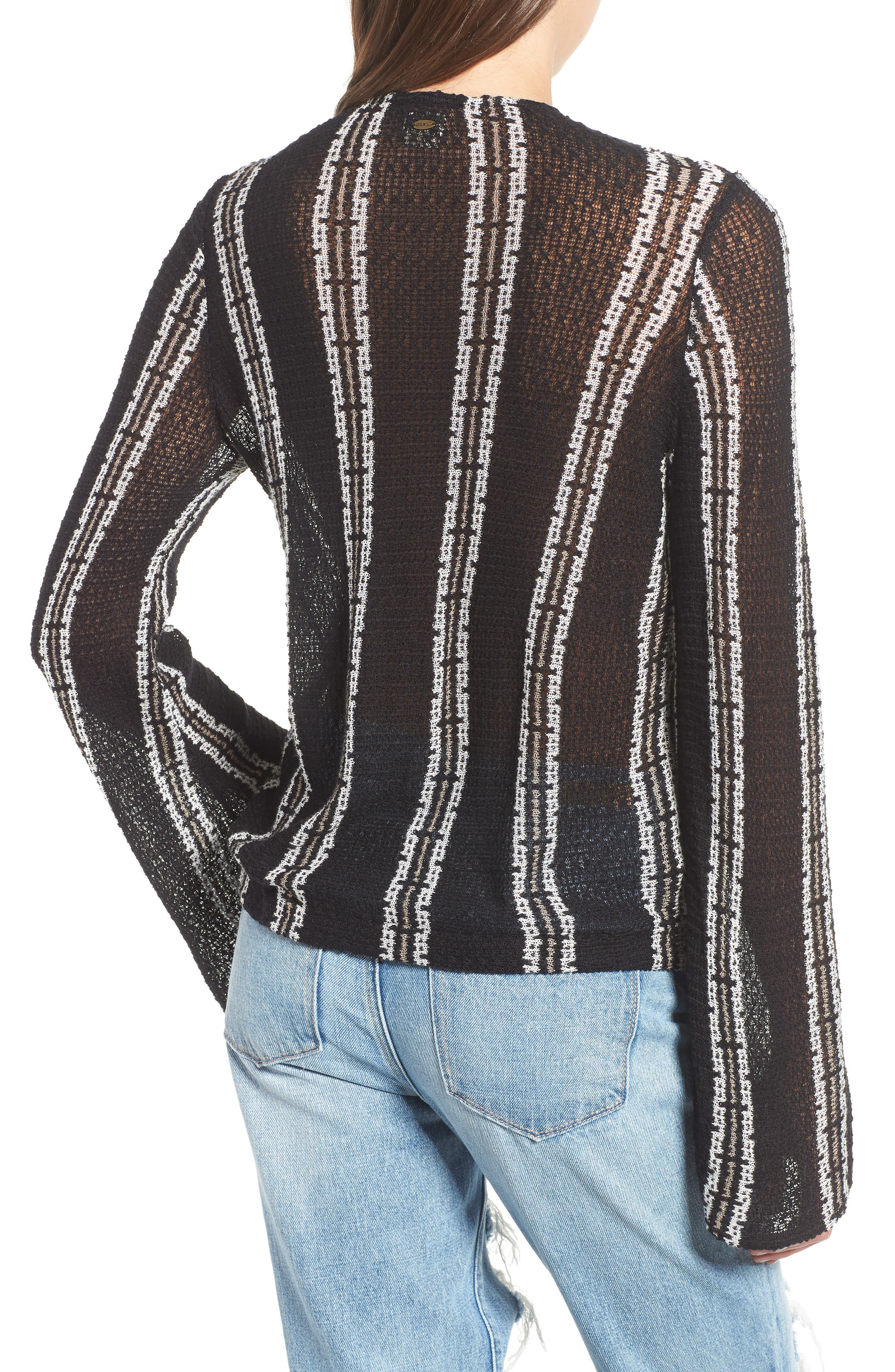 Sims Stripe Sweater,                             Alternate thumbnail 2, color,                             001