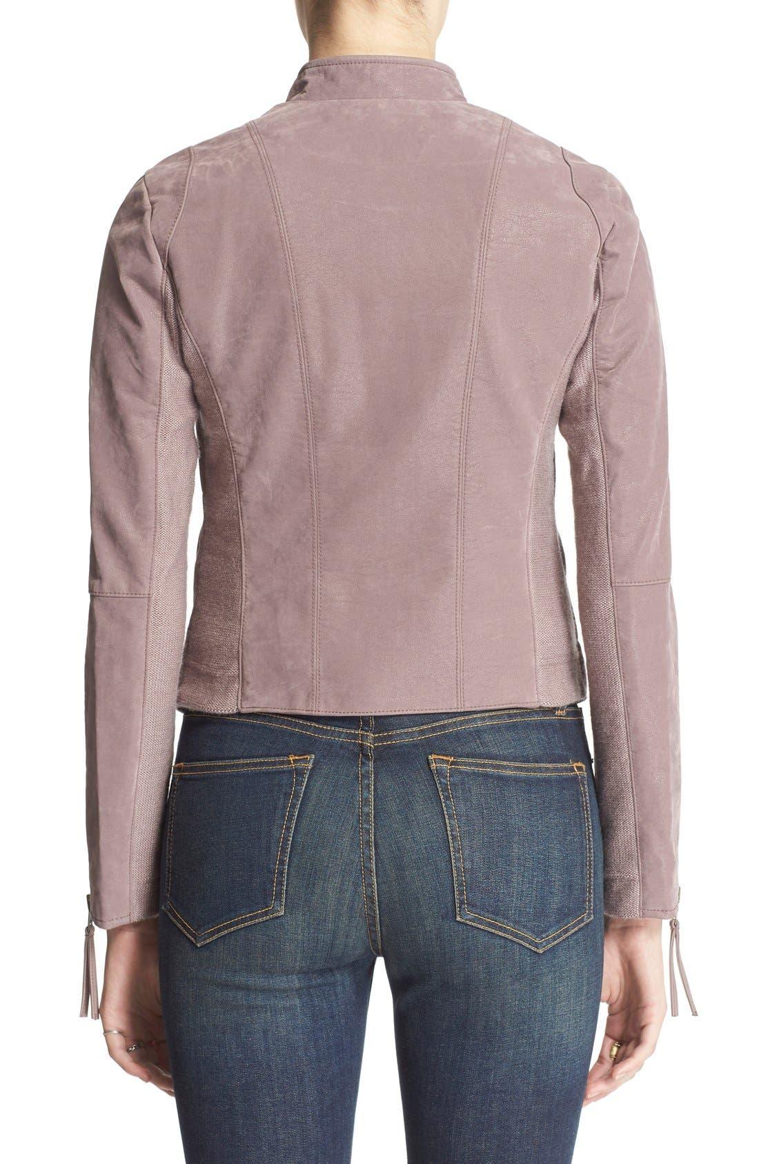 Faux Leather Jacket,                             Alternate thumbnail 12, color,
