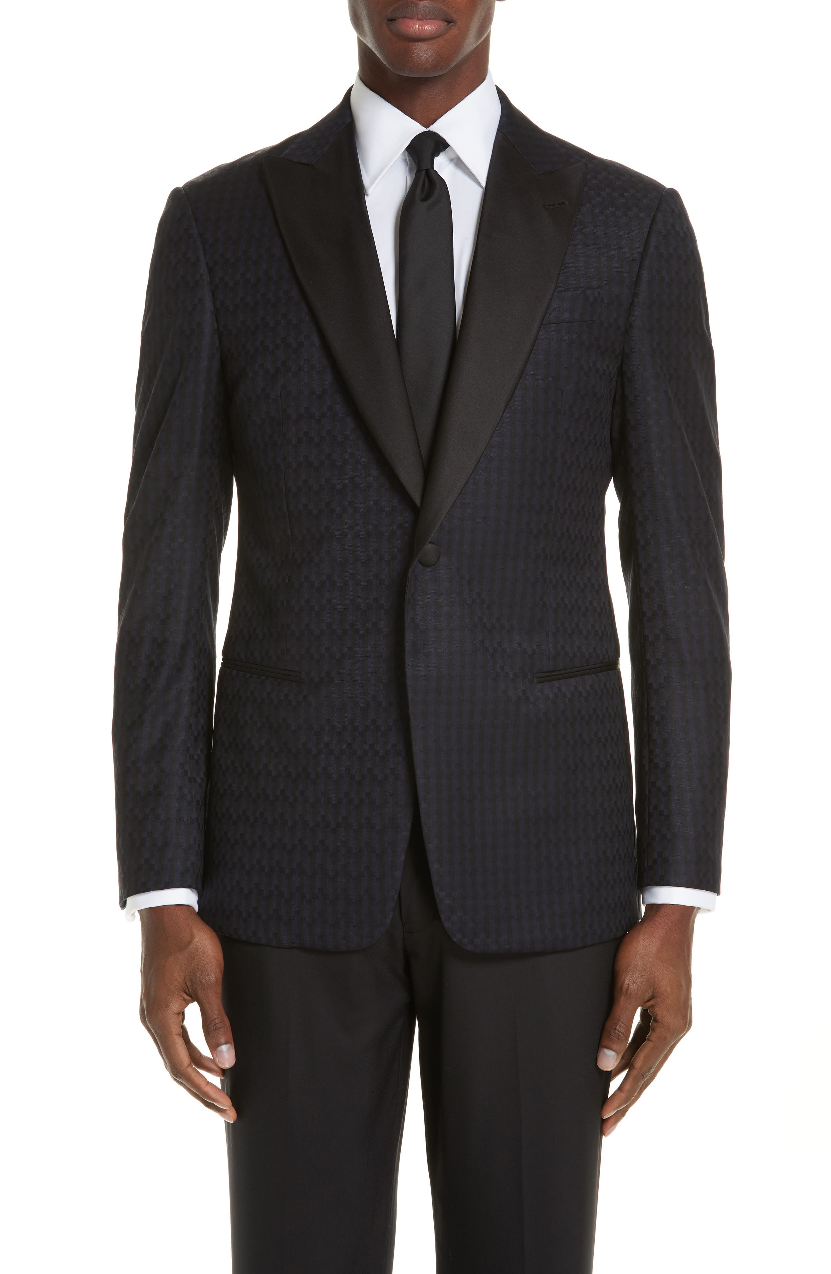 G-Line Trim Fit Wool Dinner Jacket,                             Main thumbnail 1, color,                             MIDNIGHT