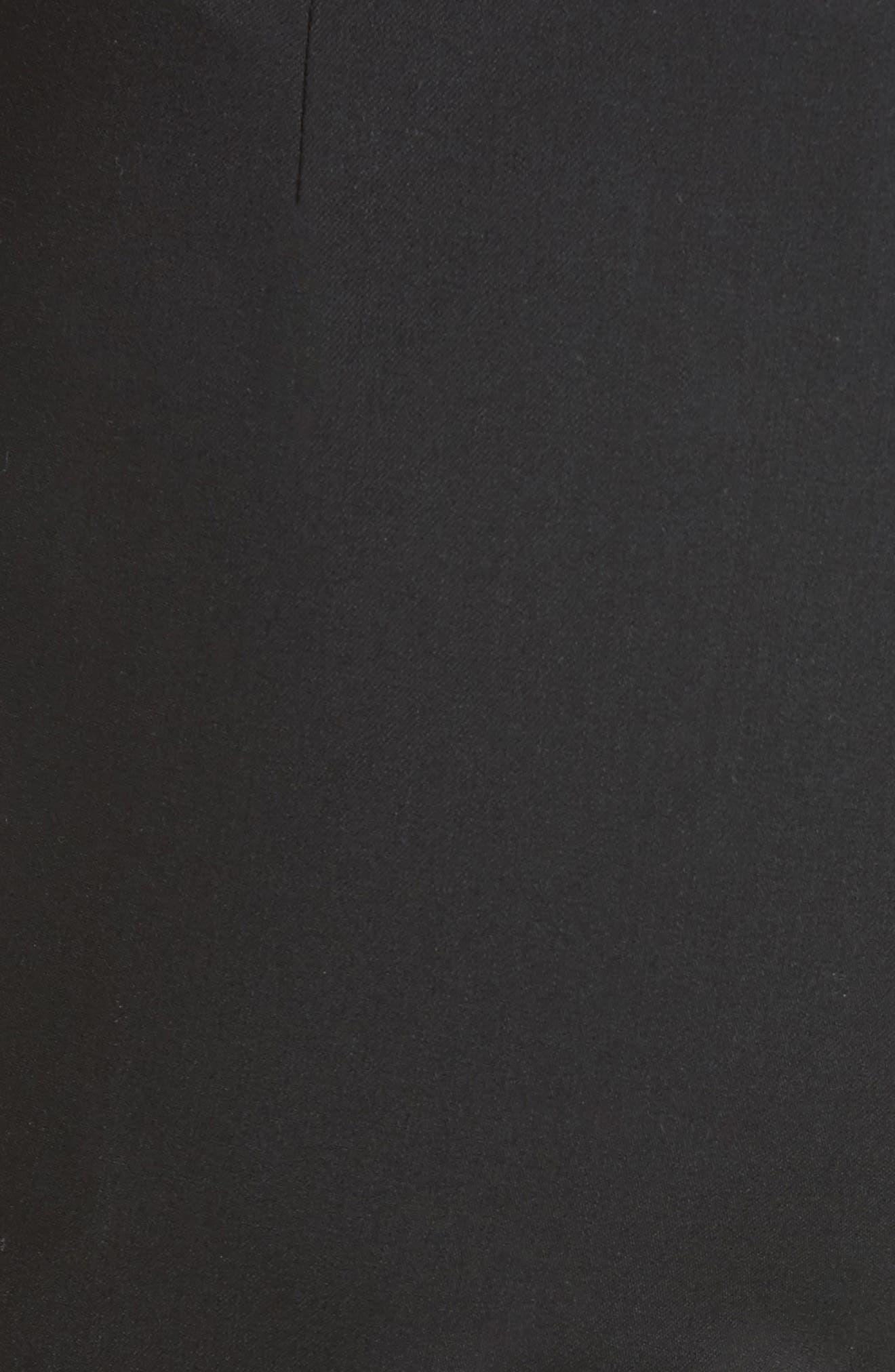'Madison' Straight Leg Wool Trousers,                             Alternate thumbnail 6, color,                             001