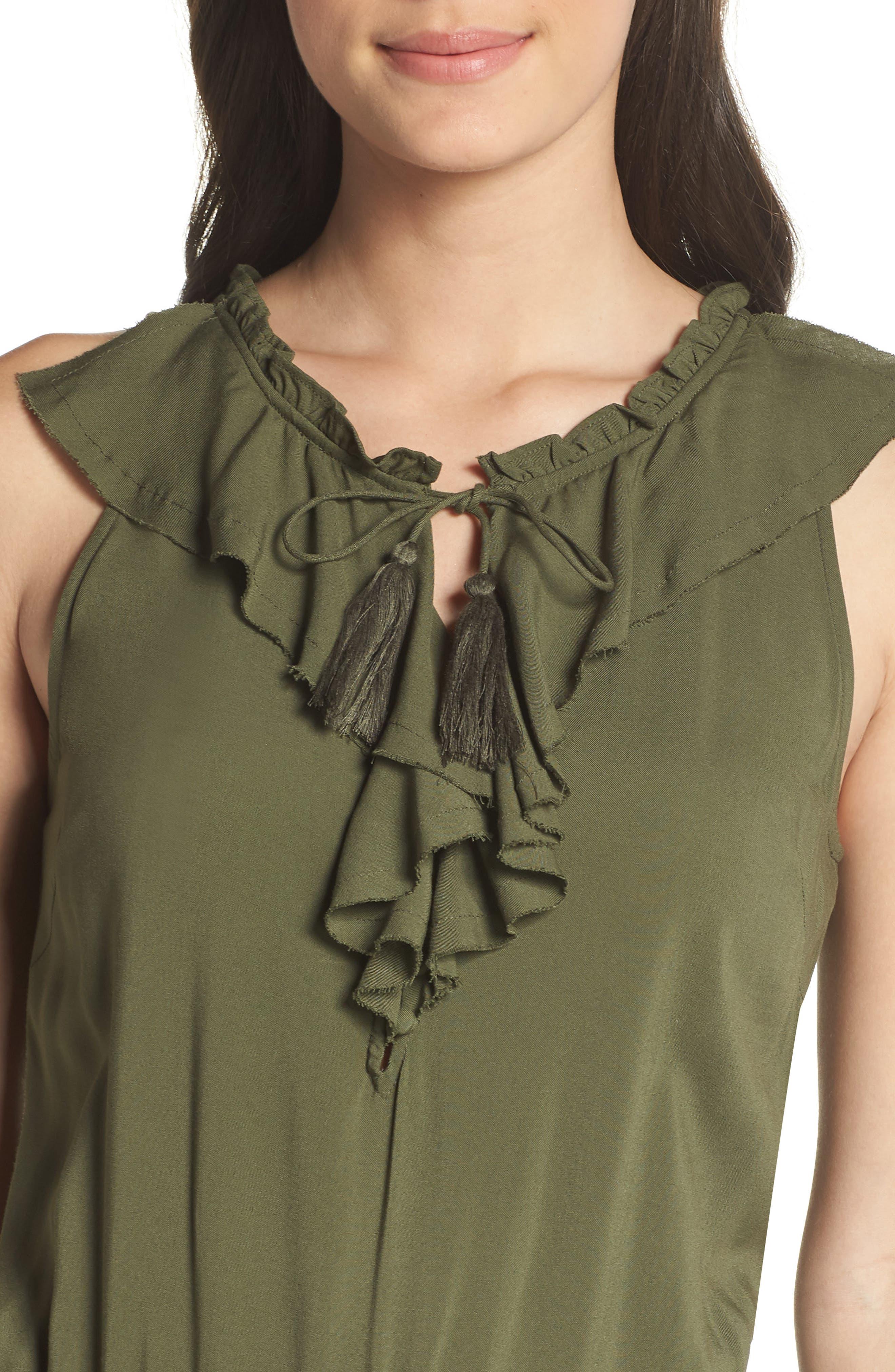 Paletta Tie-Waist Jumpsuit,                             Alternate thumbnail 4, color,