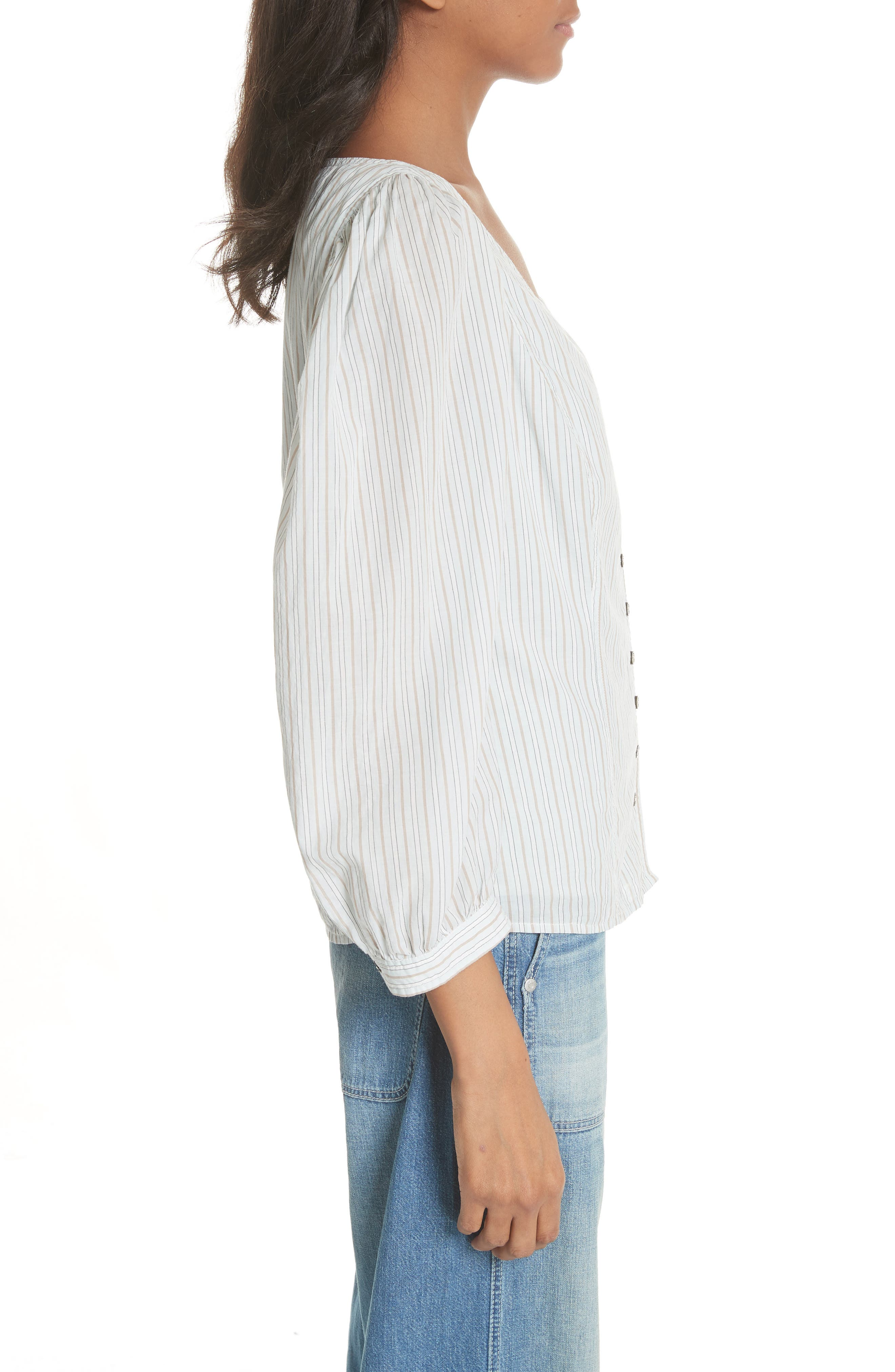 Mixed Stripe Top,                             Alternate thumbnail 3, color,                             186