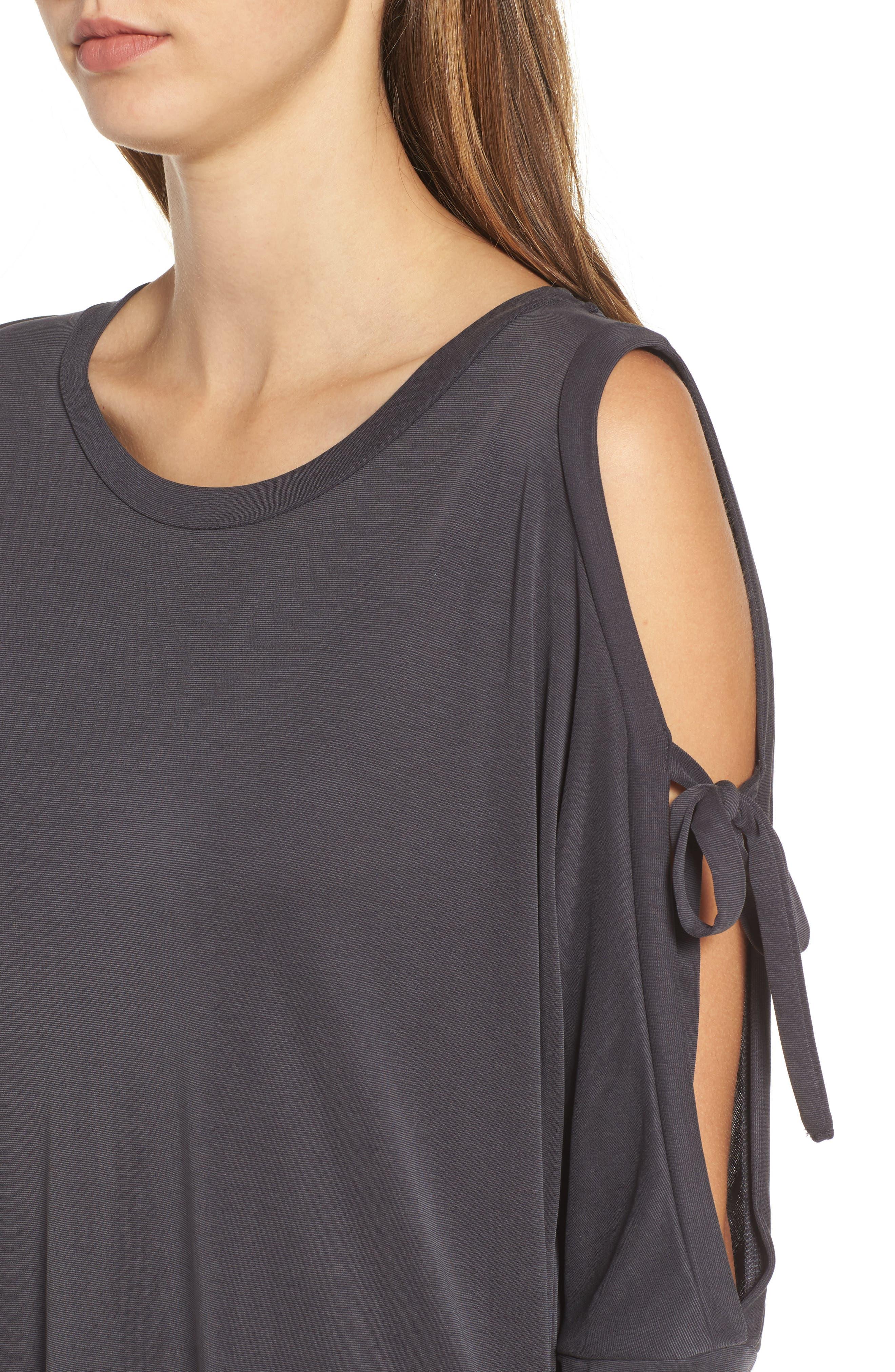 Tied Cold Shoulder Dress,                             Alternate thumbnail 4, color,