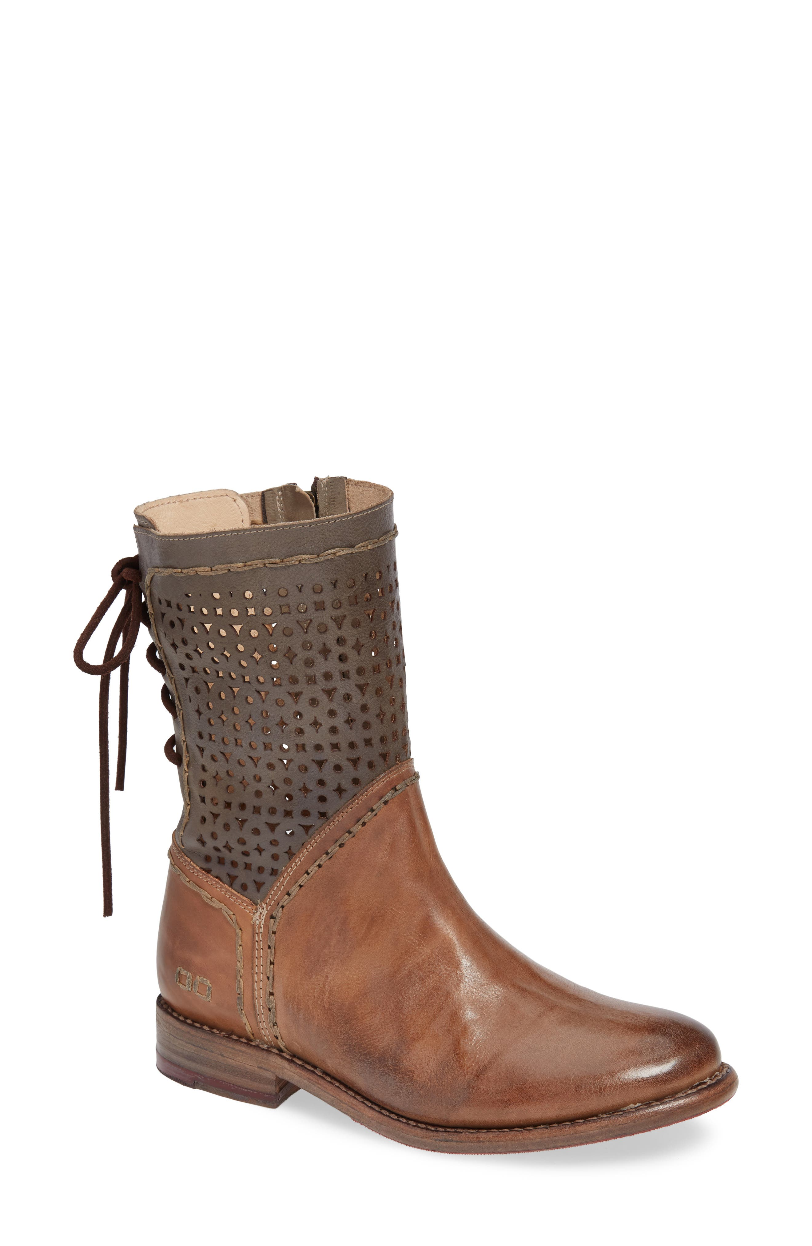 Bed Stu Cheshire Perforated Shaft Boot- Brown