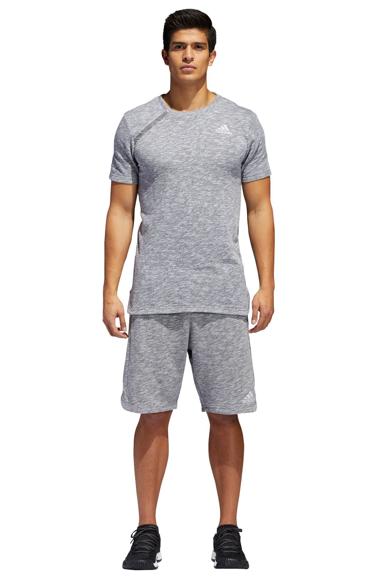 Pick Up Knit Shorts,                             Alternate thumbnail 8, color,                             LGH SOLID GREY