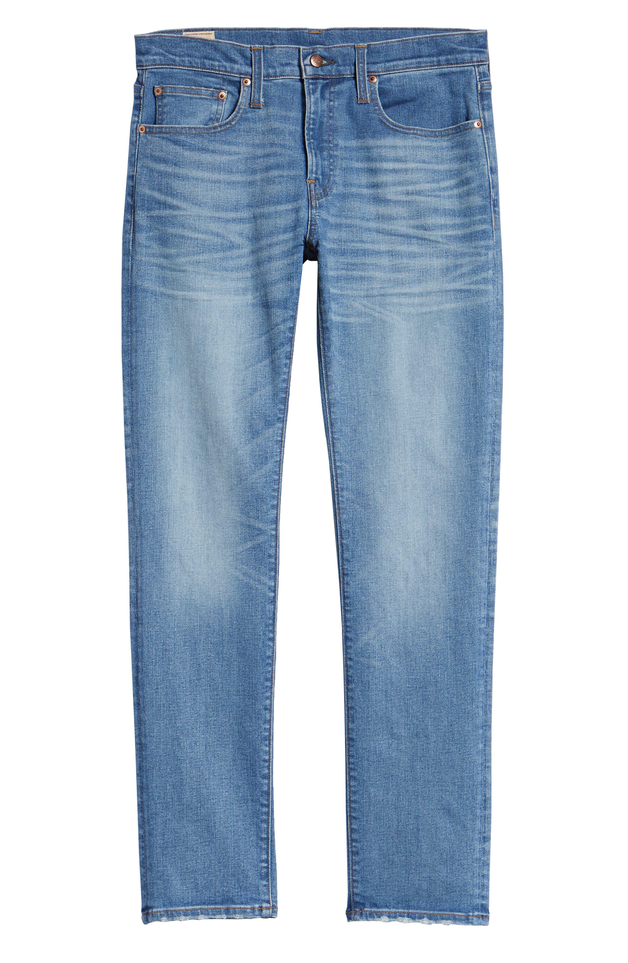 484 Slim Fit Distressed Stretch Jeans,                             Alternate thumbnail 6, color,                             STOCKTON WASH