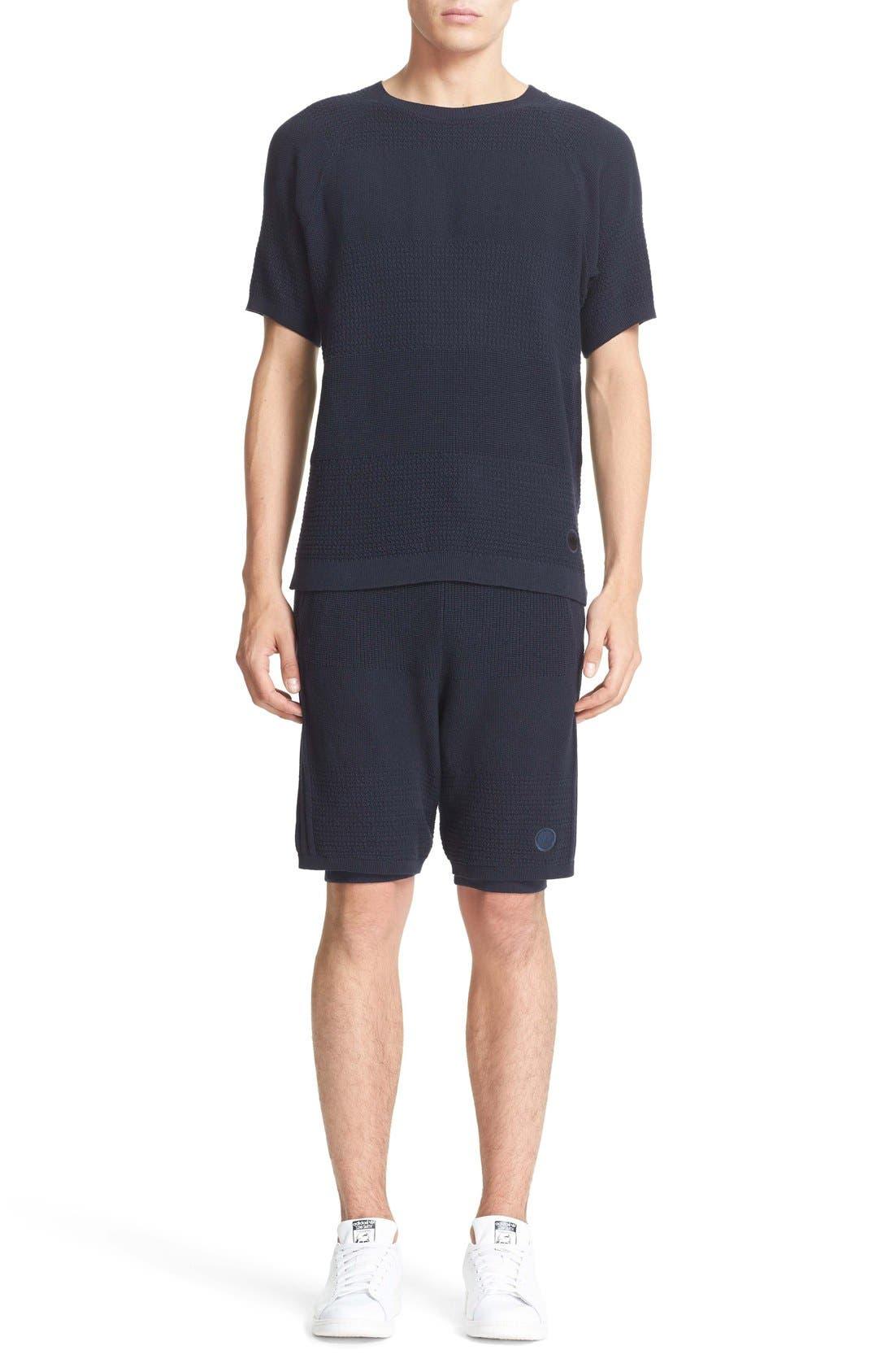 Linear Texture Knit Shorts,                             Alternate thumbnail 5, color,                             410