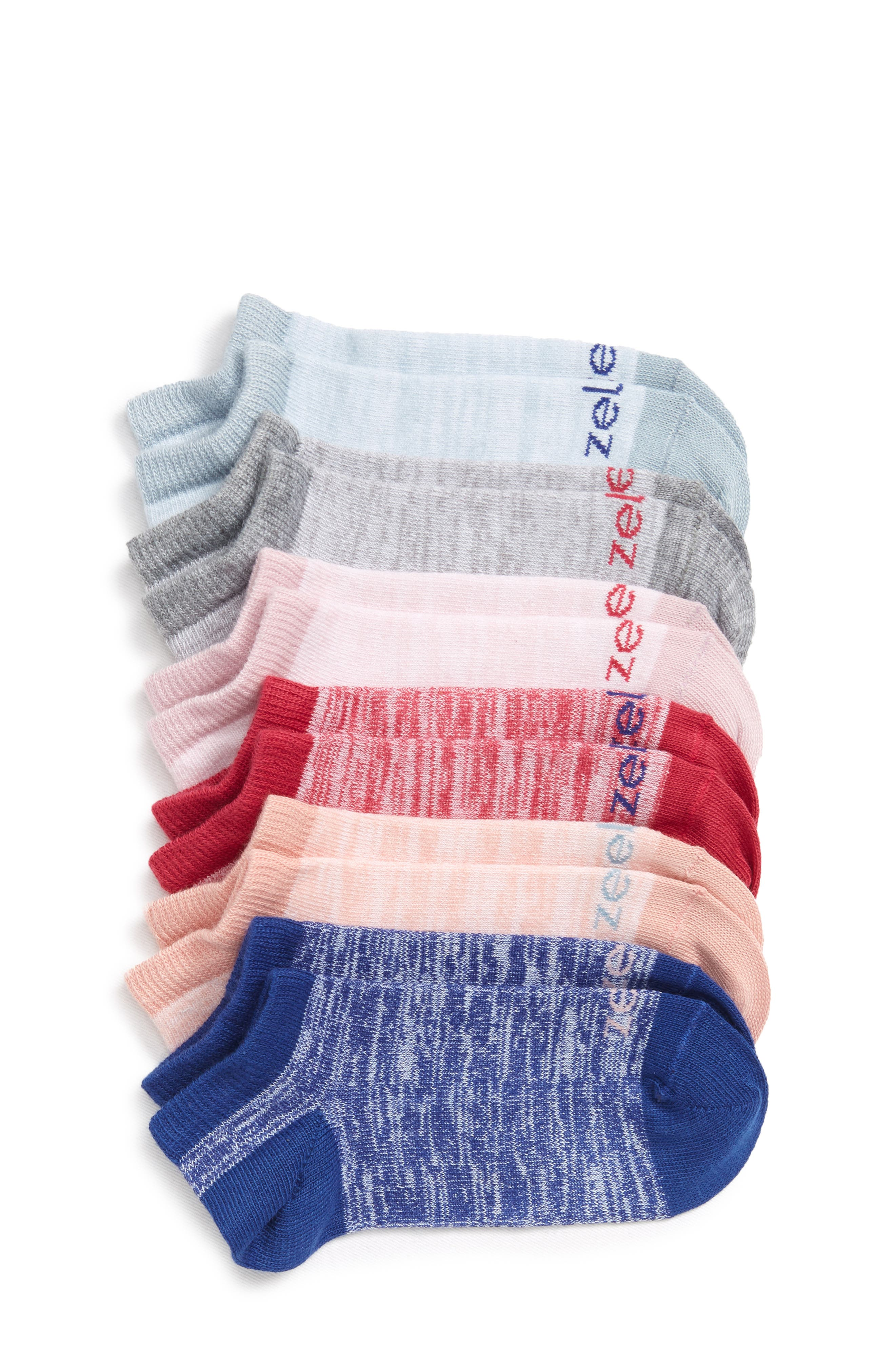 6-Pack Ankle Socks,                             Main thumbnail 1, color,                             502