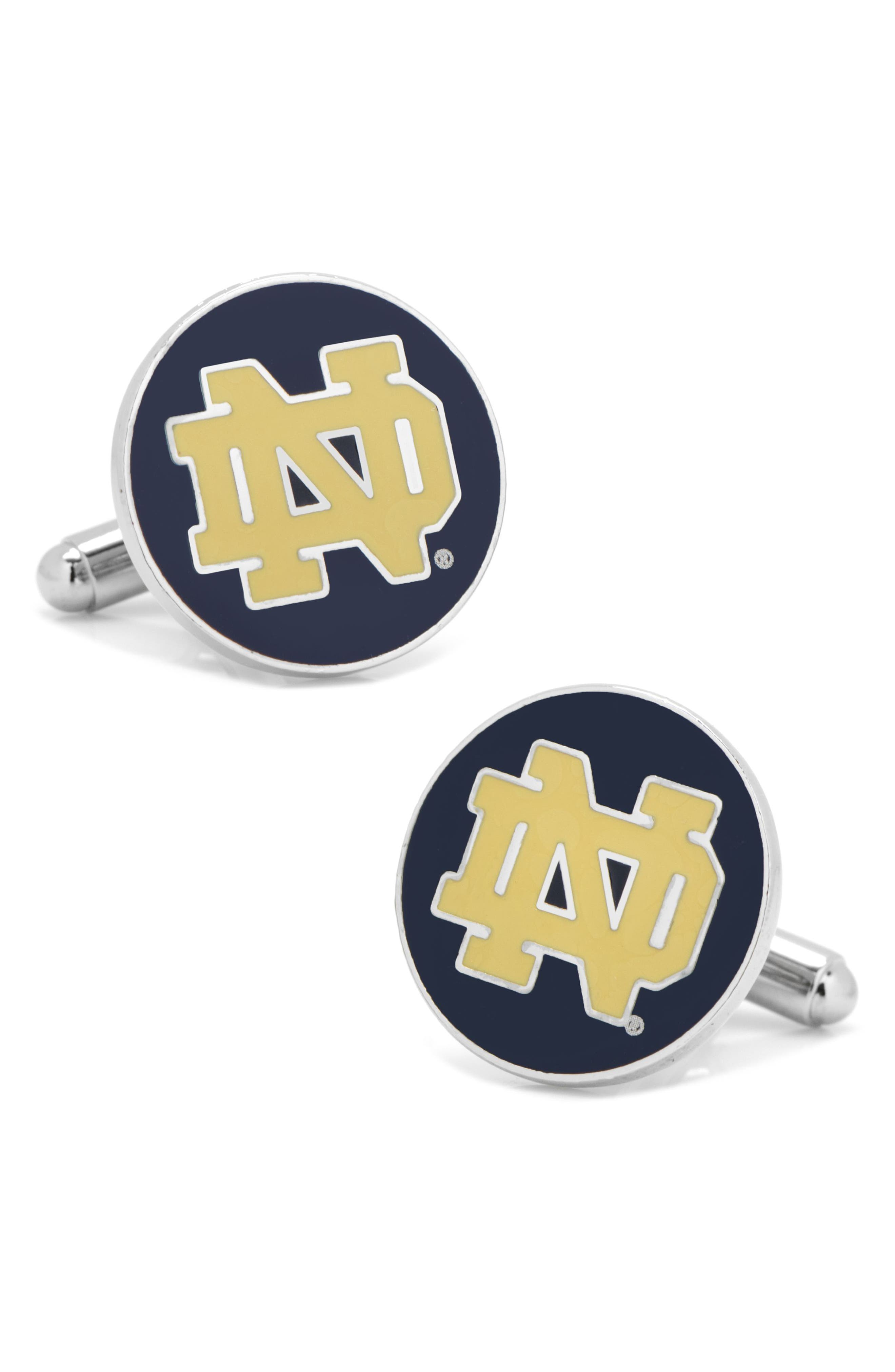 Notre Dame Cuff Links,                         Main,                         color, NAVY