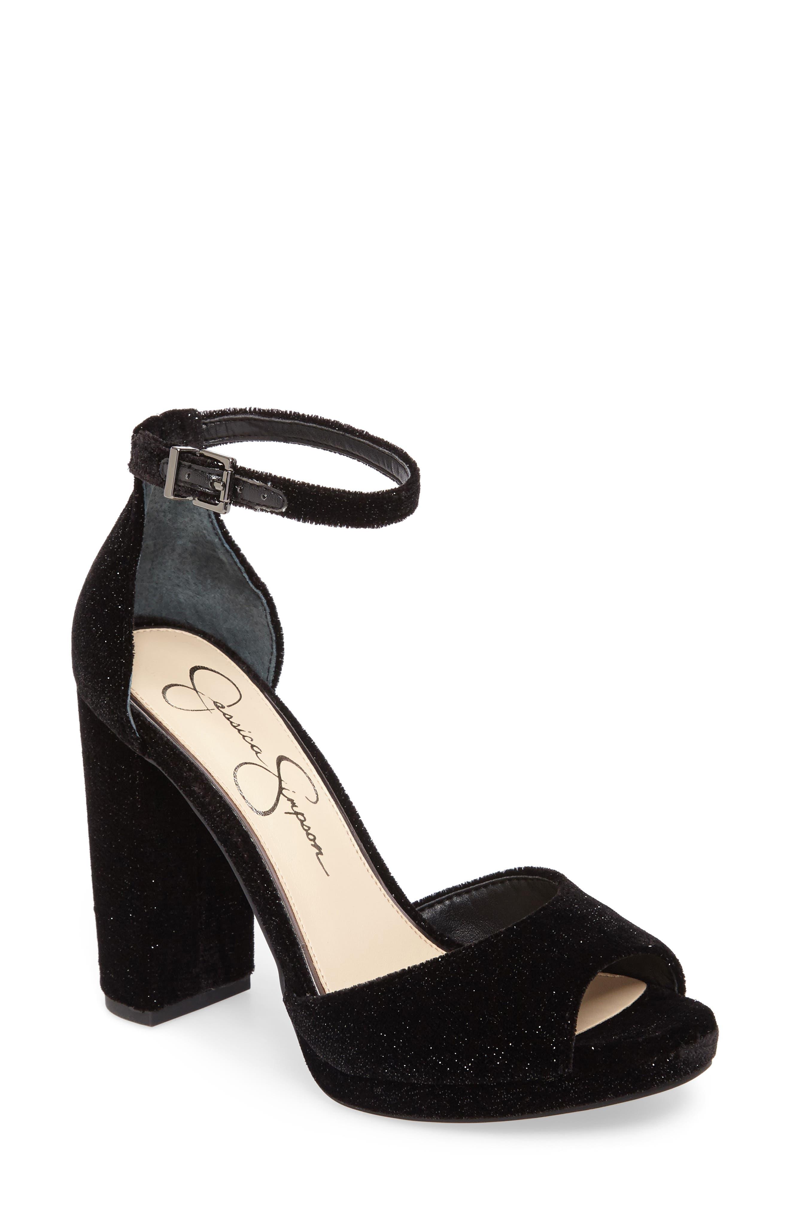 Jenee Platform Sandal,                             Main thumbnail 1, color,                             001